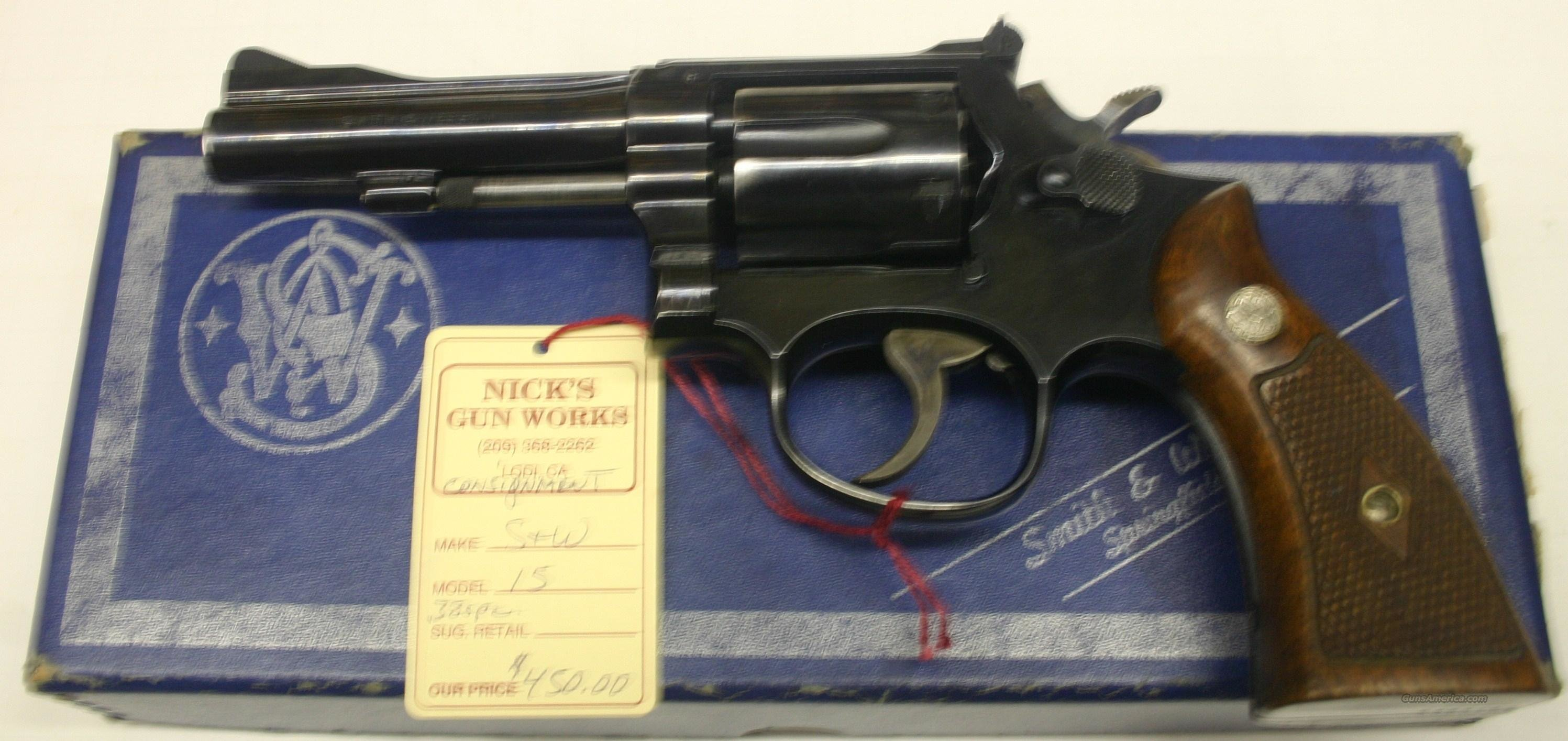 Smith & Wesson Model 15 .38 special   Guns > Pistols > Smith & Wesson Revolvers > Full Frame Revolver