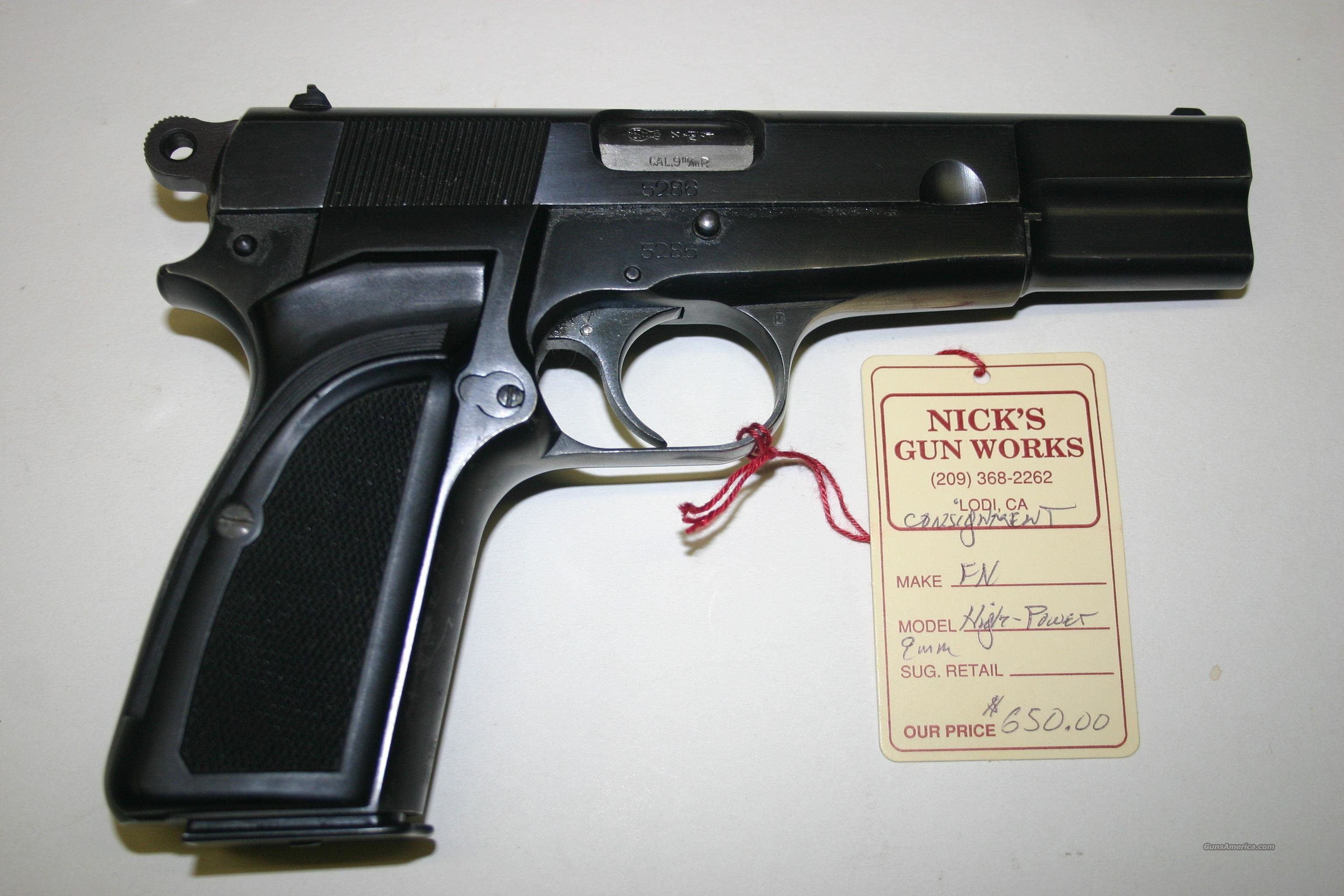 FN Hi Power EARLY GUN 9mm  Guns > Pistols > FNH - Fabrique Nationale (FN) Pistols > High Power Type