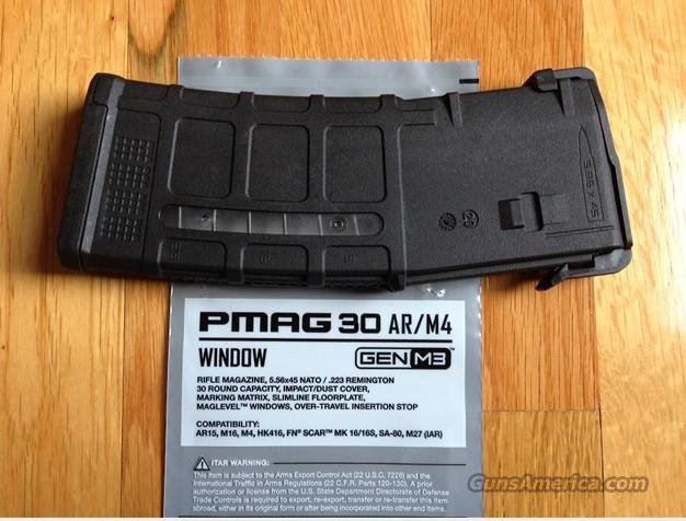10 PMAG 30 rnd AR15 Latest Gen M3 w/Window   Non-Guns > Magazines & Clips > Rifle Magazines > AR-15 Type