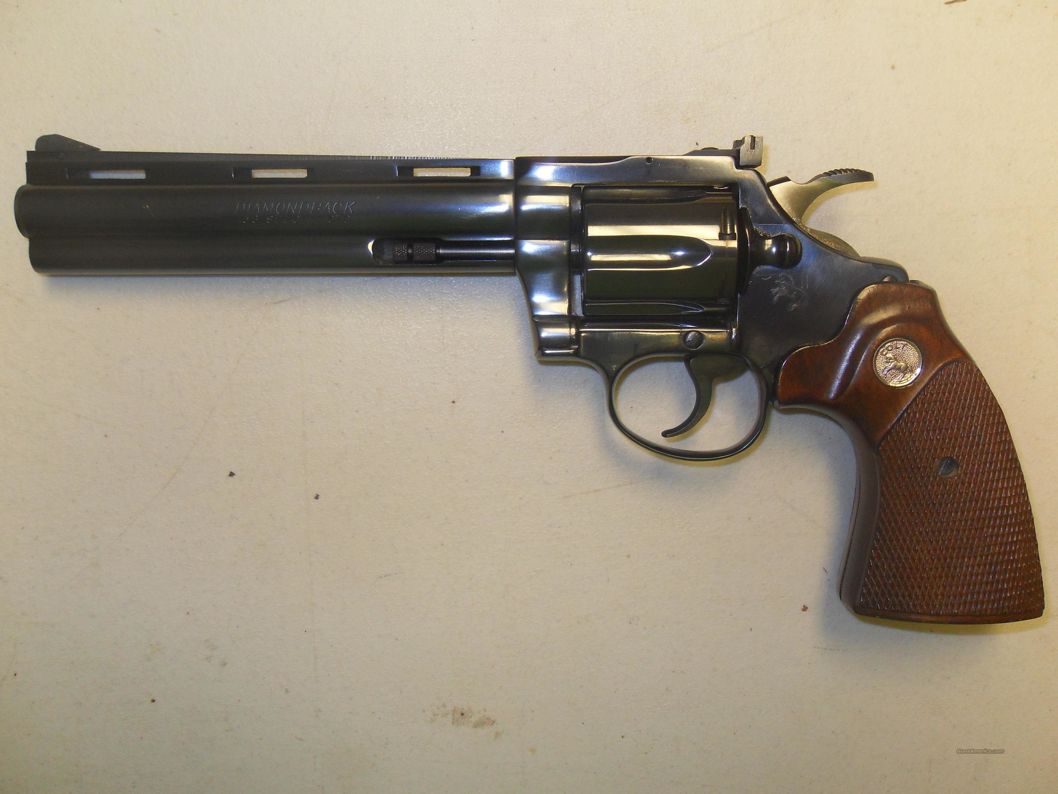 "Colt Diamondback  38  6""  Guns > Pistols > Colt Double Action Revolvers- Modern"