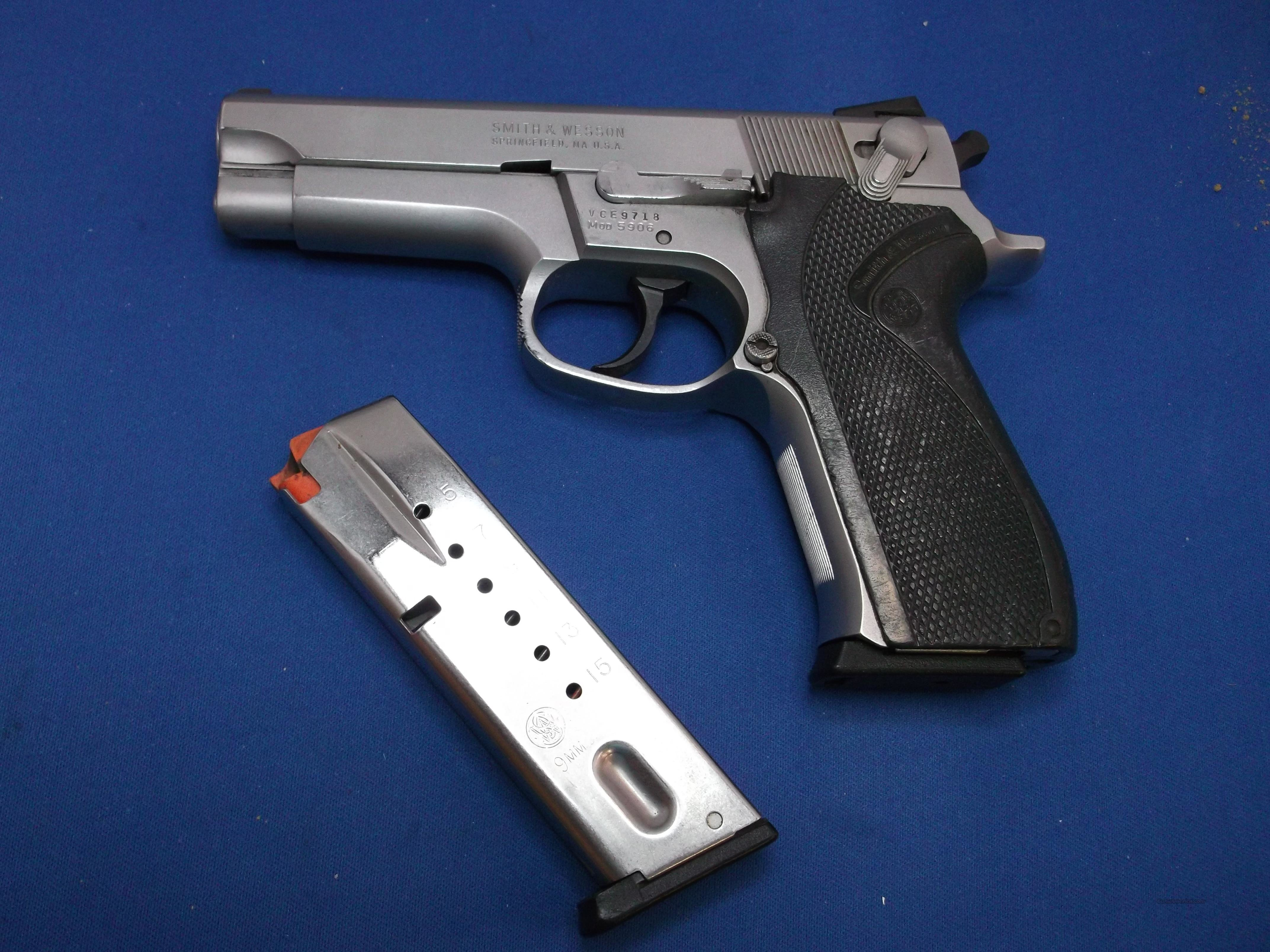 S&W MDL 5906 SS Pistol, Cal. 9mm, Very Good  Guns > Pistols > Smith & Wesson Pistols - Autos > Steel Frame