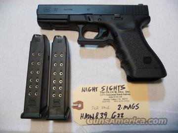 Used Glock-22 3rd Gen Police Trade-In with 2 Hi-Cap Mags + Night Sights  Guns > Pistols > Glock Pistols > 22