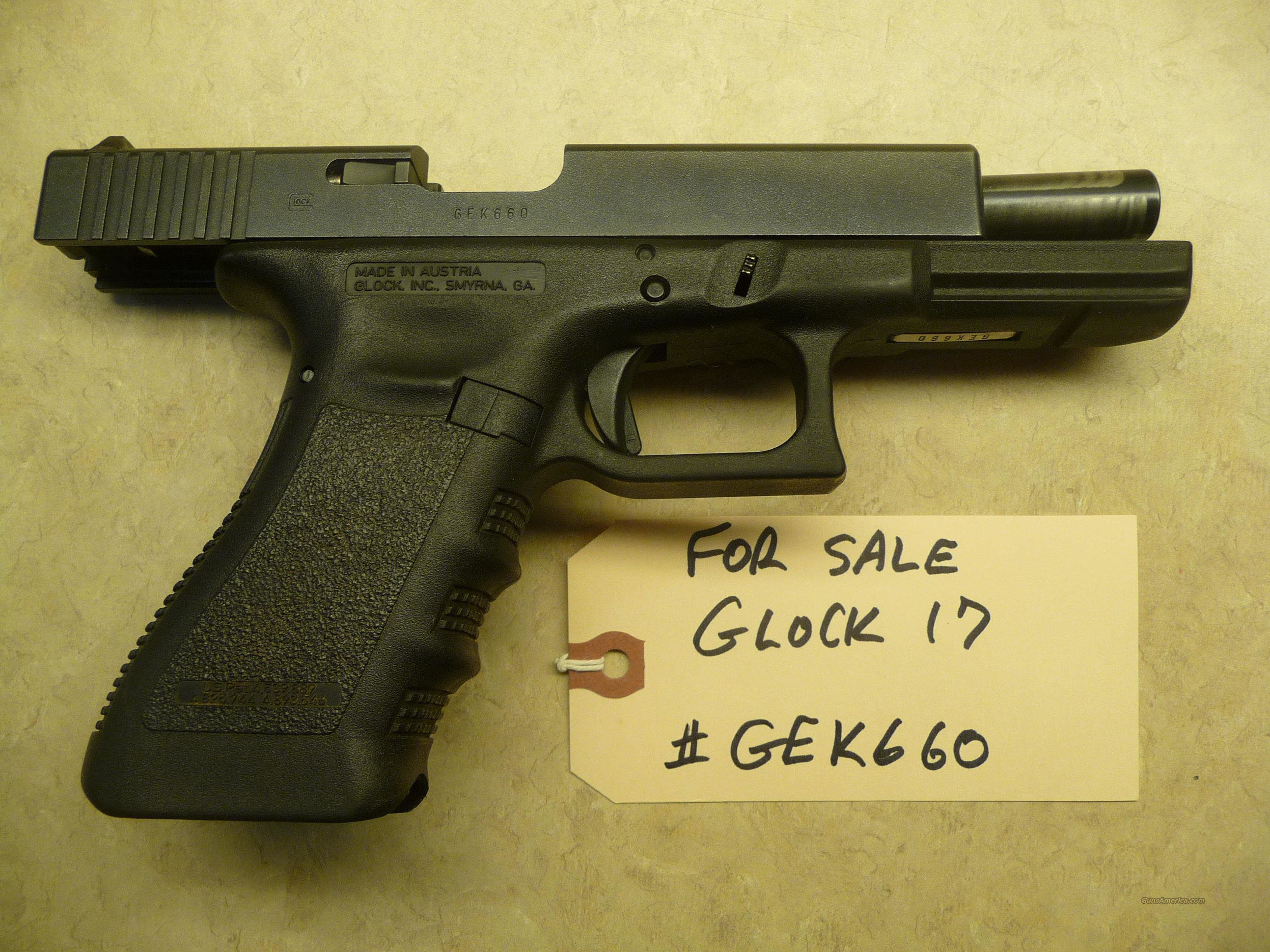 Used GLOCK 17 9mm Police Trade In with 3 used hi-cap Glock mags  Guns > Pistols > Glock Pistols > 17