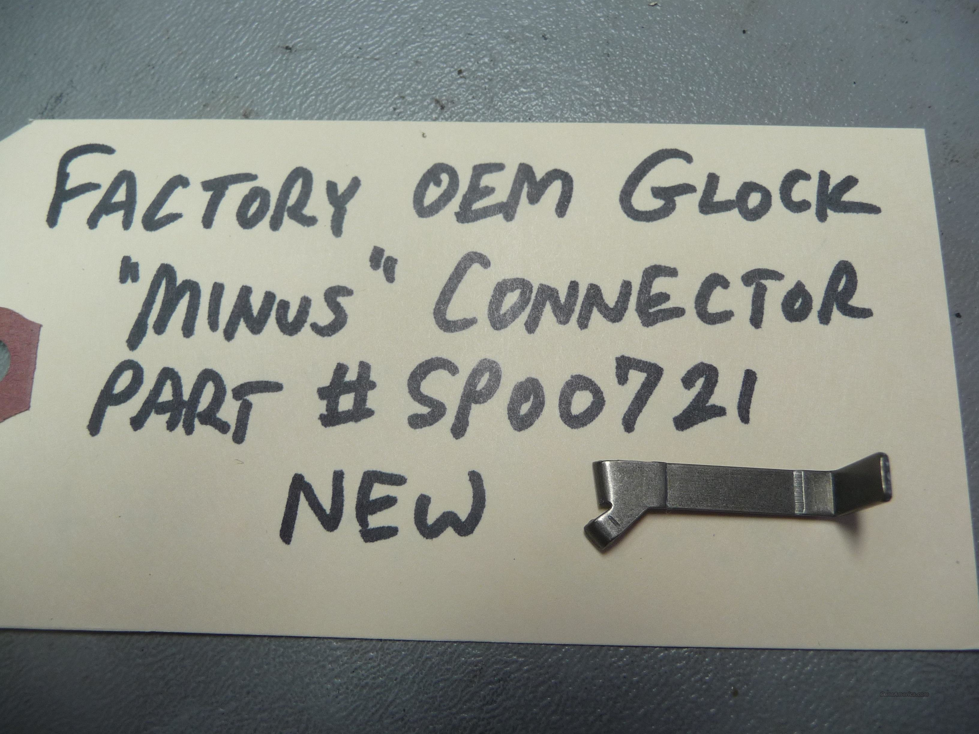 "Glock Factory OEM ""minus"" Connector  Non-Guns > Gun Parts > Misc > Pistols"