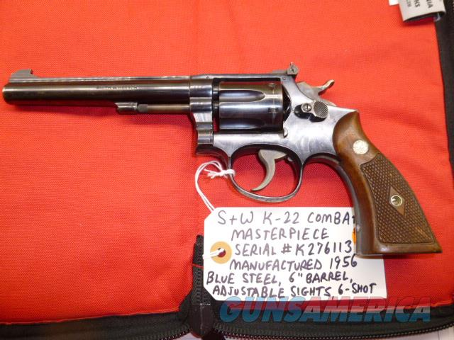 "Used S&W K-22 .22 LR Revolver, Blue Steel 6-Shot with 6"" Barrel, No Action Lock  Guns > Pistols > Smith & Wesson Revolvers > Med. Frame ( K/L )"