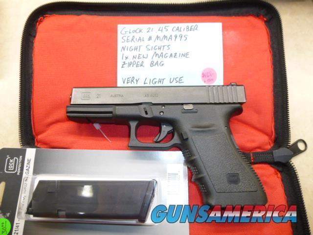 Used Glock 21 .45 Caliber Pistol, Police Trade-In, Very Light Use  Guns > Pistols > Glock Pistols > 20/21
