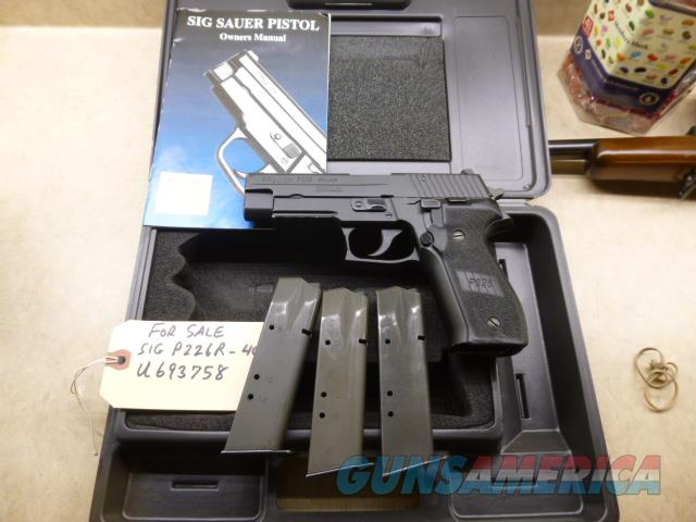 Used Sig P226R 226 .40 Pistol with 3 x Hi-Cap Mags & Night Sights  Guns > Pistols > Sig - Sauer/Sigarms Pistols > P226