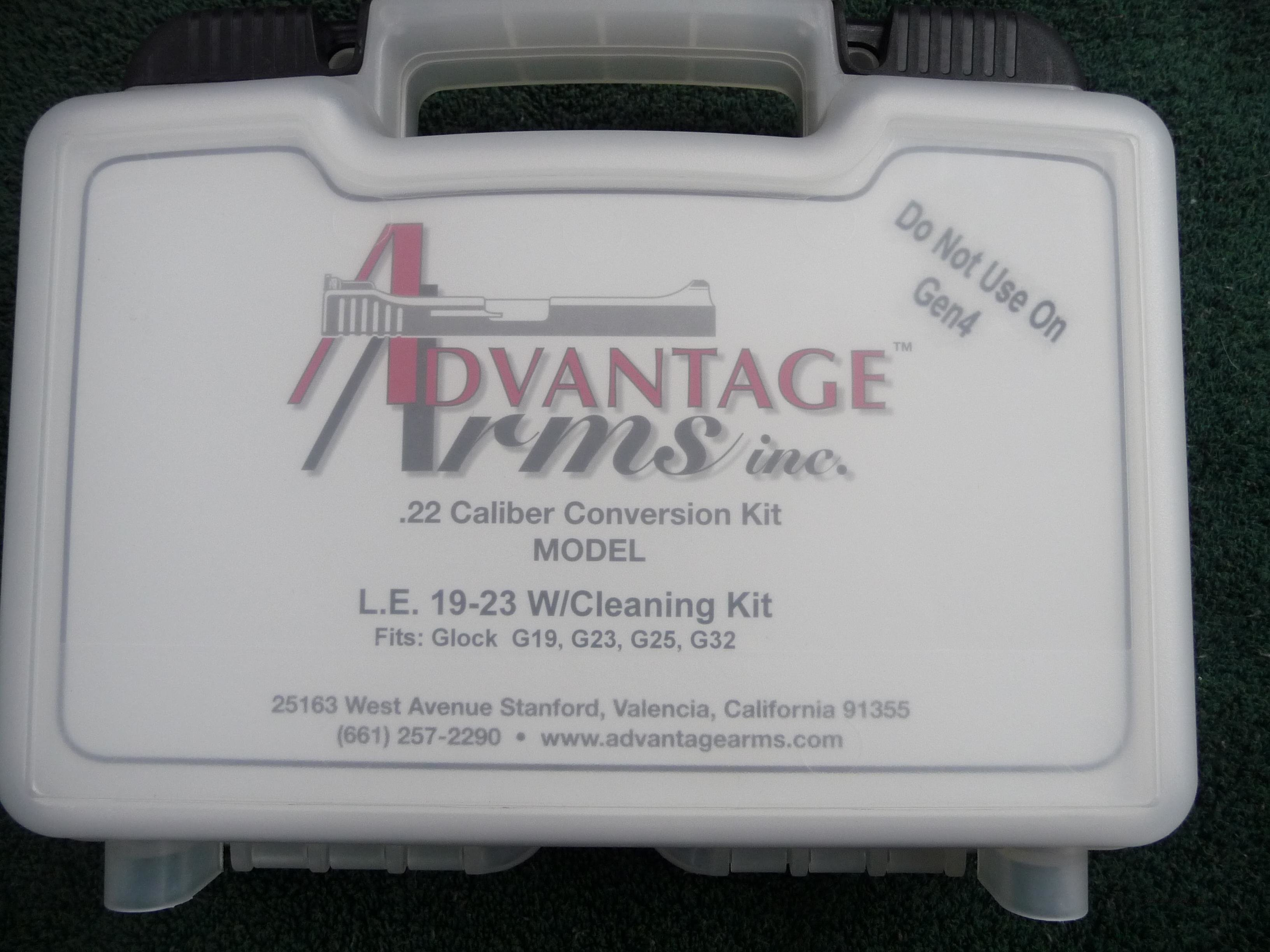 Advantage Arms .22 Conversion Kit for Glock 19-23  Guns > Pistols > Glock Pistols > 19