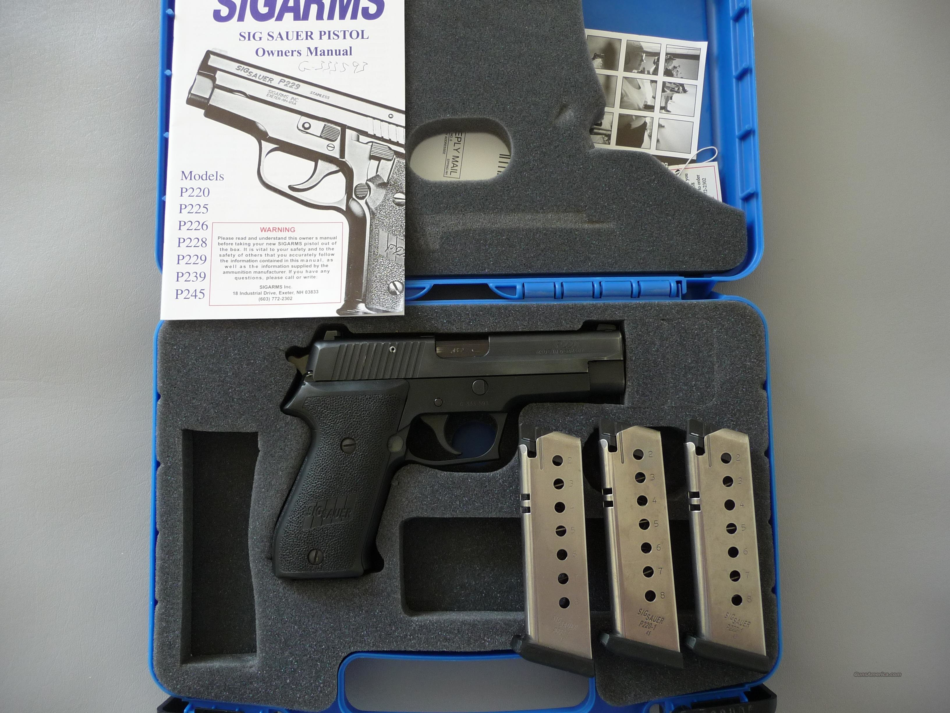 Sig Sauer P220 .45 Pistol, Police Trade-In, LAYAWAY AVAILABLE  Guns > Pistols > Sig - Sauer/Sigarms Pistols > P220