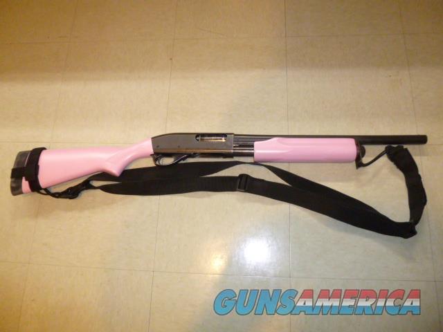 PINK Used Remington 870 Wingmaster 12-gauge Pump Shotgun, Police Trade-In  Guns > Shotguns > Remington Shotguns  > Pump > Tactical