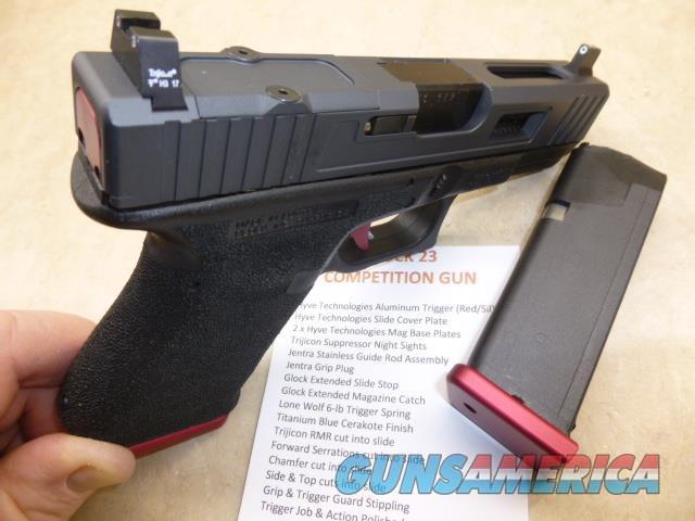 Fully Custom Gen-3 Glock 23, Stippled Grip, RMR Cut Slide, Hyve Tech Trigger, PRICE REDUCED  Guns > Pistols > Glock Pistols > 23