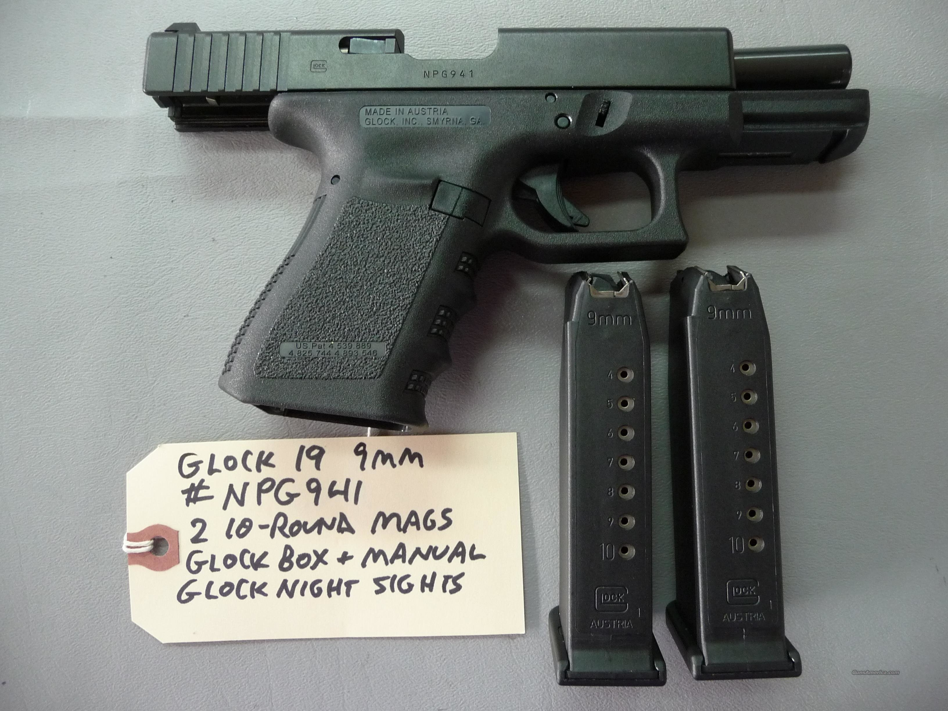 Never Fired Gen-3 Glock 19 9mm Pistol  Guns > Pistols > Glock Pistols > 19