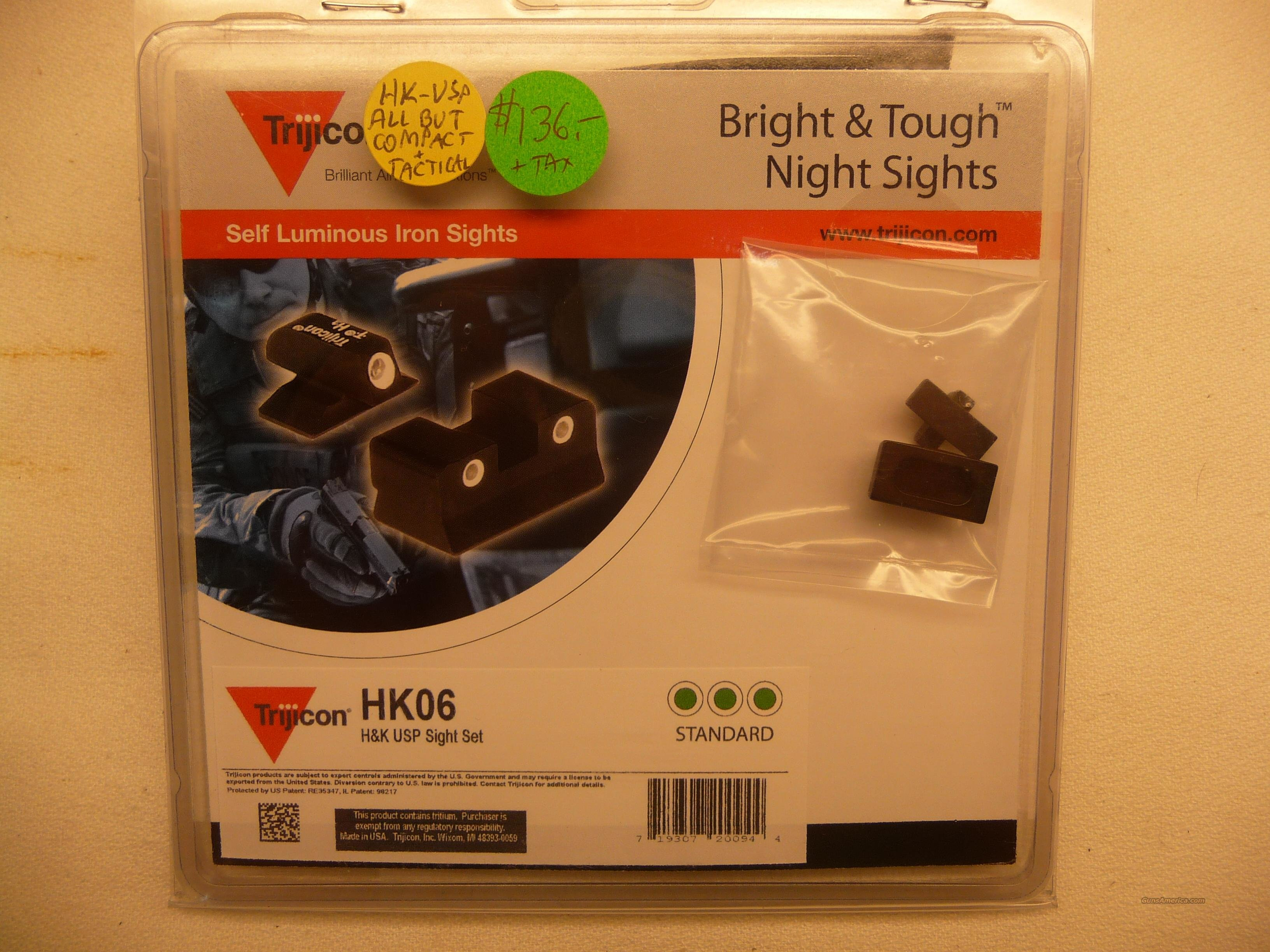 NEW Trijicon HK06 Night Sights for the H&K USP Pistol  Non-Guns > Gun Parts > Misc > Pistols