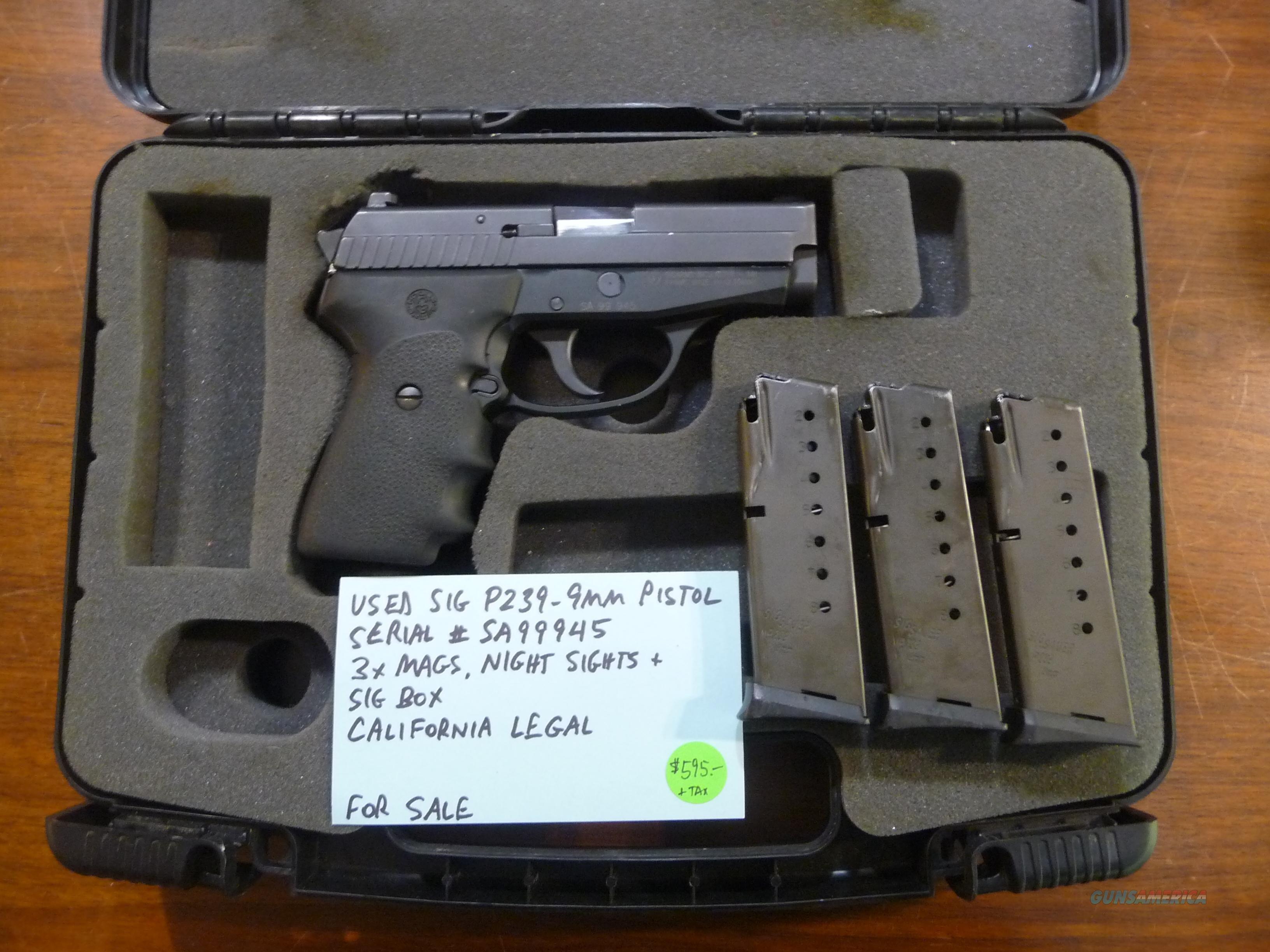 california legal 9mm sig p239 pistol box sauer guns pistols userimages
