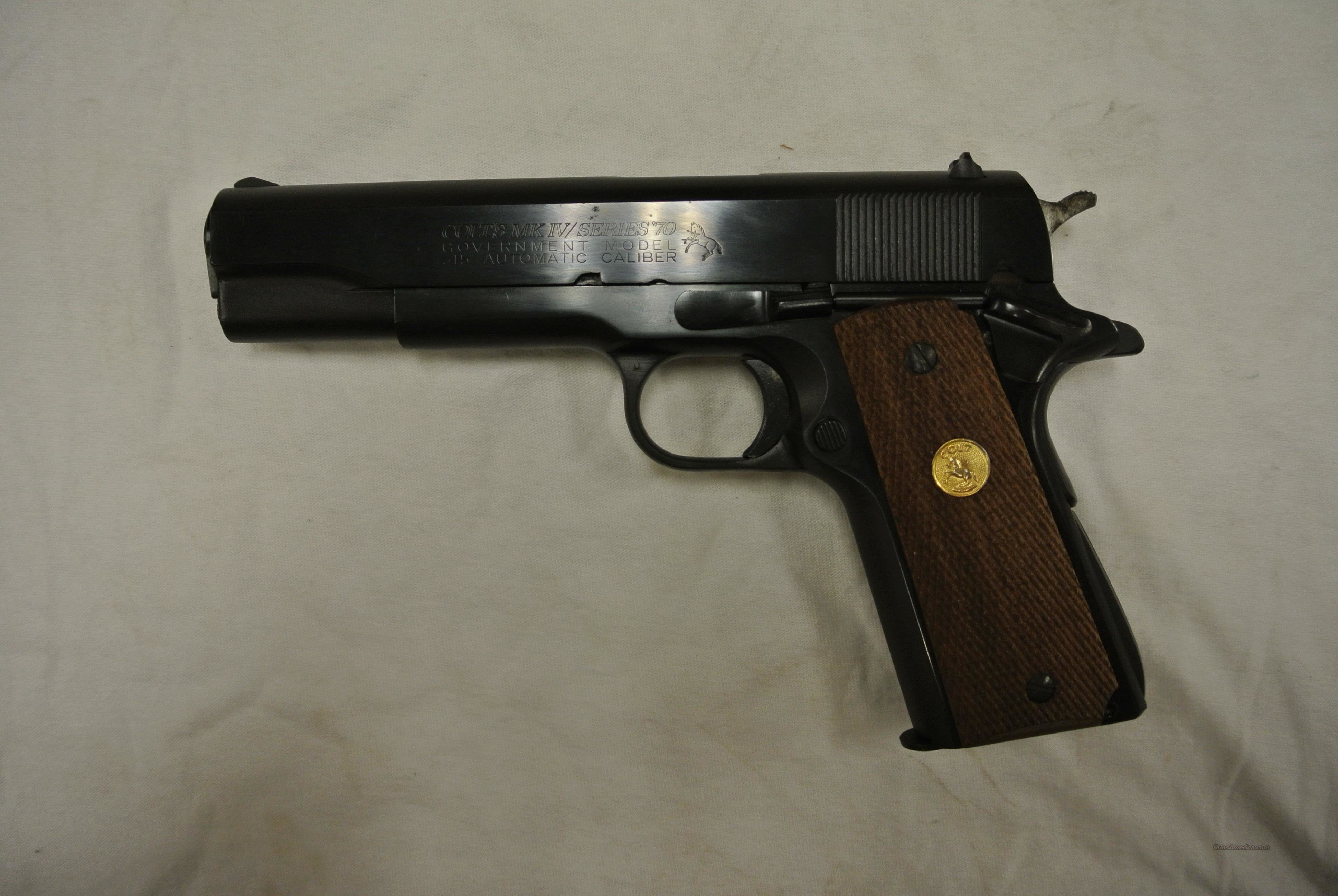 Colt Government Model Series 70 45 Auto Pistol  Guns > Pistols > Colt Automatic Pistols (1911 & Var)
