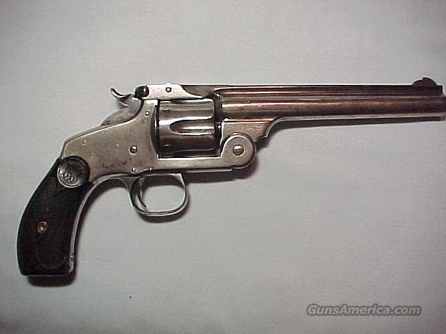 Antique Nickle S&W New Mdl. No.3 Top Break Revolver   Guns > Pistols > Smith & Wesson Revolvers > Pre-1899
