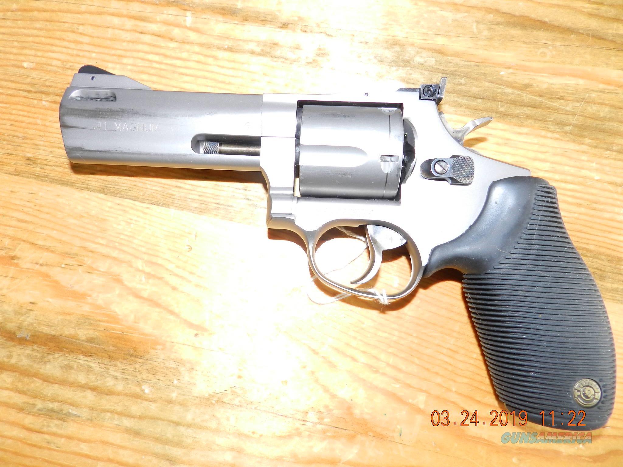 Taurus titanium 41 magmun 4 inch   Guns > Pistols > Taurus Pistols > Revolvers