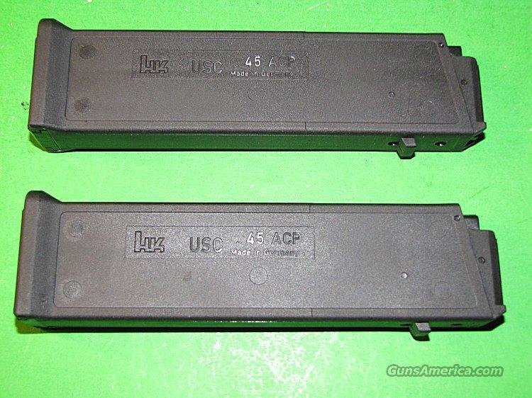 2 NEW FACTORY HK USC 45 ACP Carbine Magazine Mag Lot Pair H&K  Non-Guns > Magazines & Clips > Rifle Magazines > Other