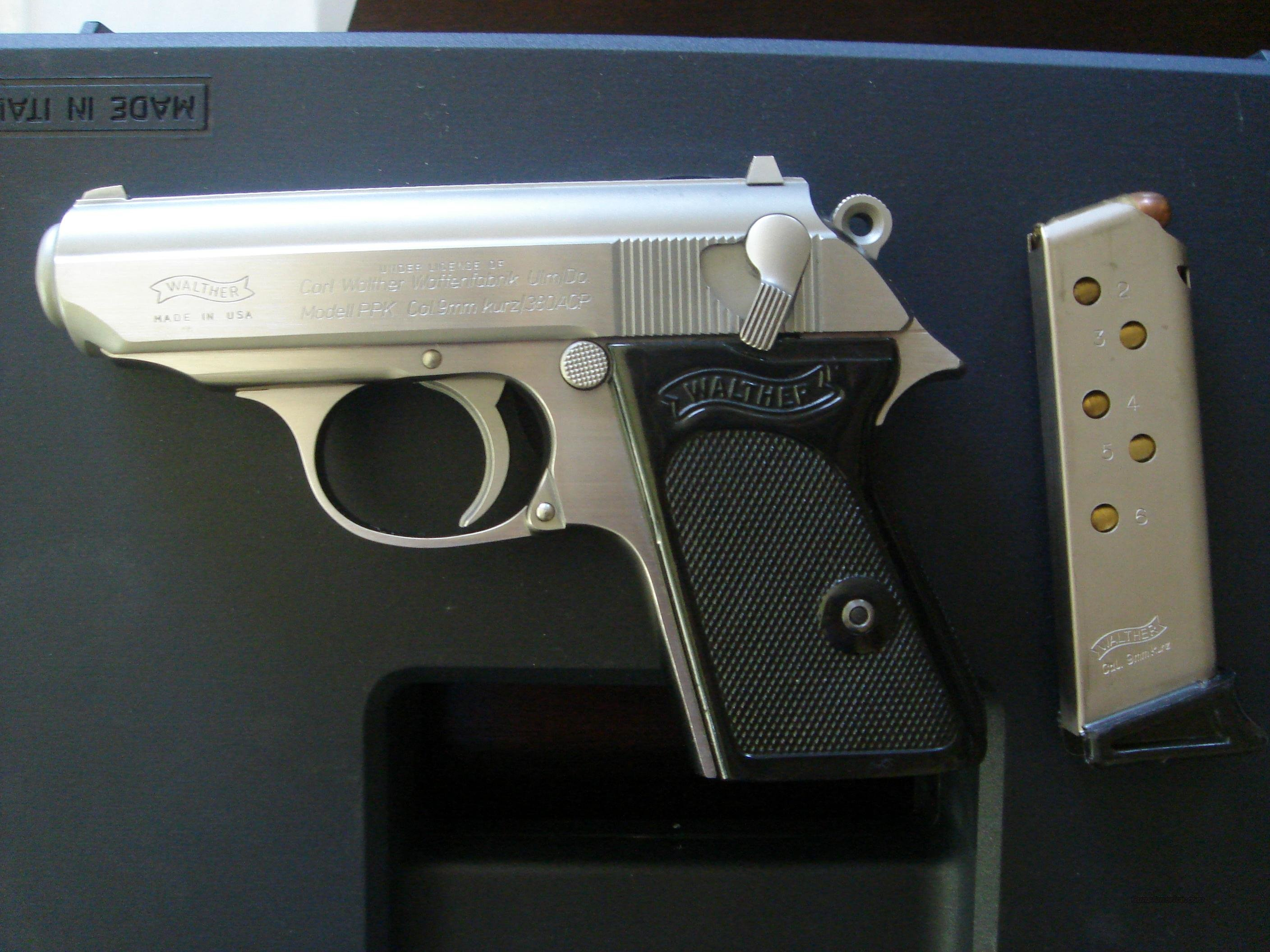 WALTHER PPK 9mm / .380ACP STAINLESS BY INTERARMS  Guns > Pistols > Walther Pistols > Post WWII > PP Series