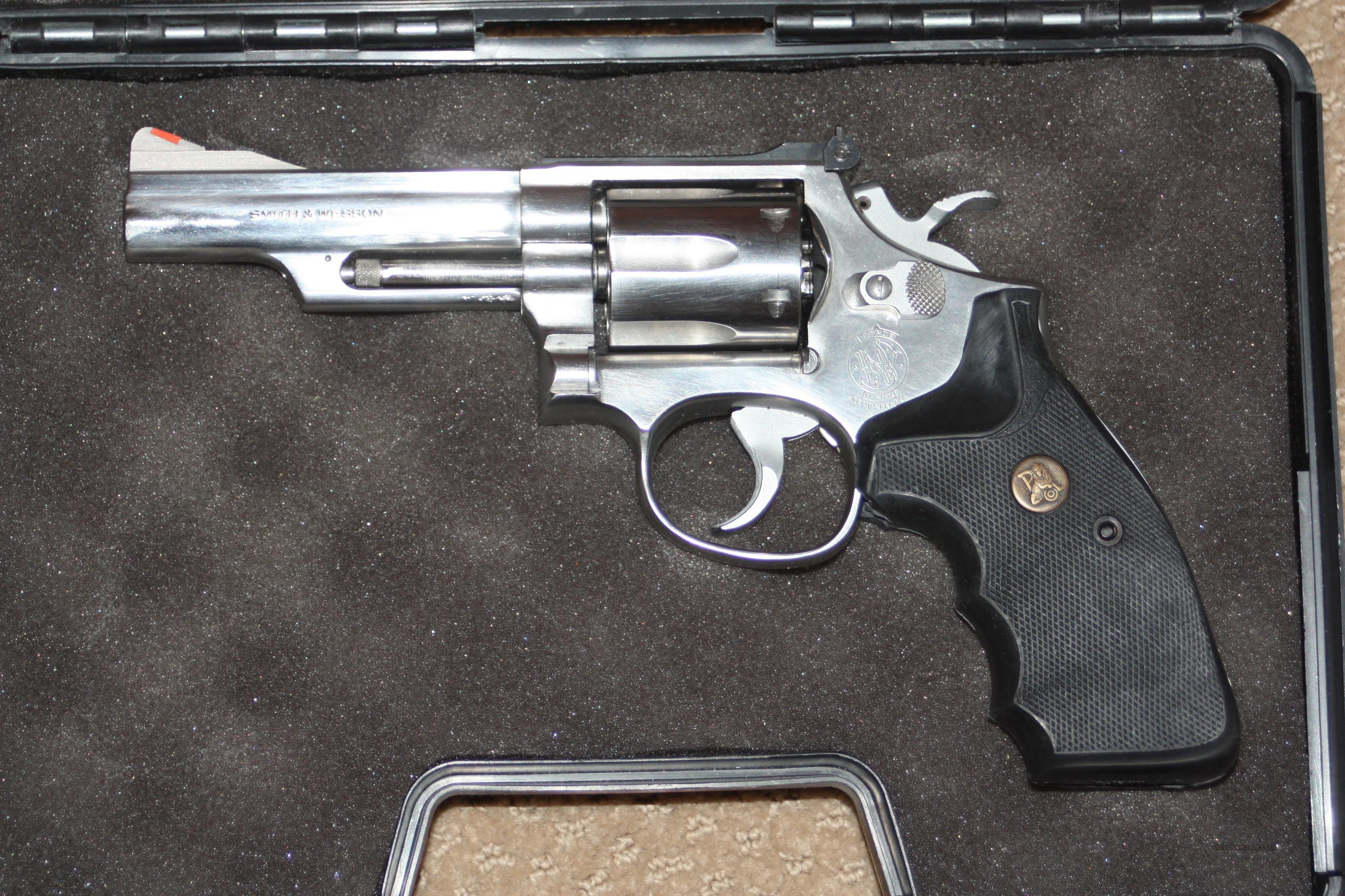 S Amp W Model 66 2 Stainless 357 Magnum Revolver For Sale
