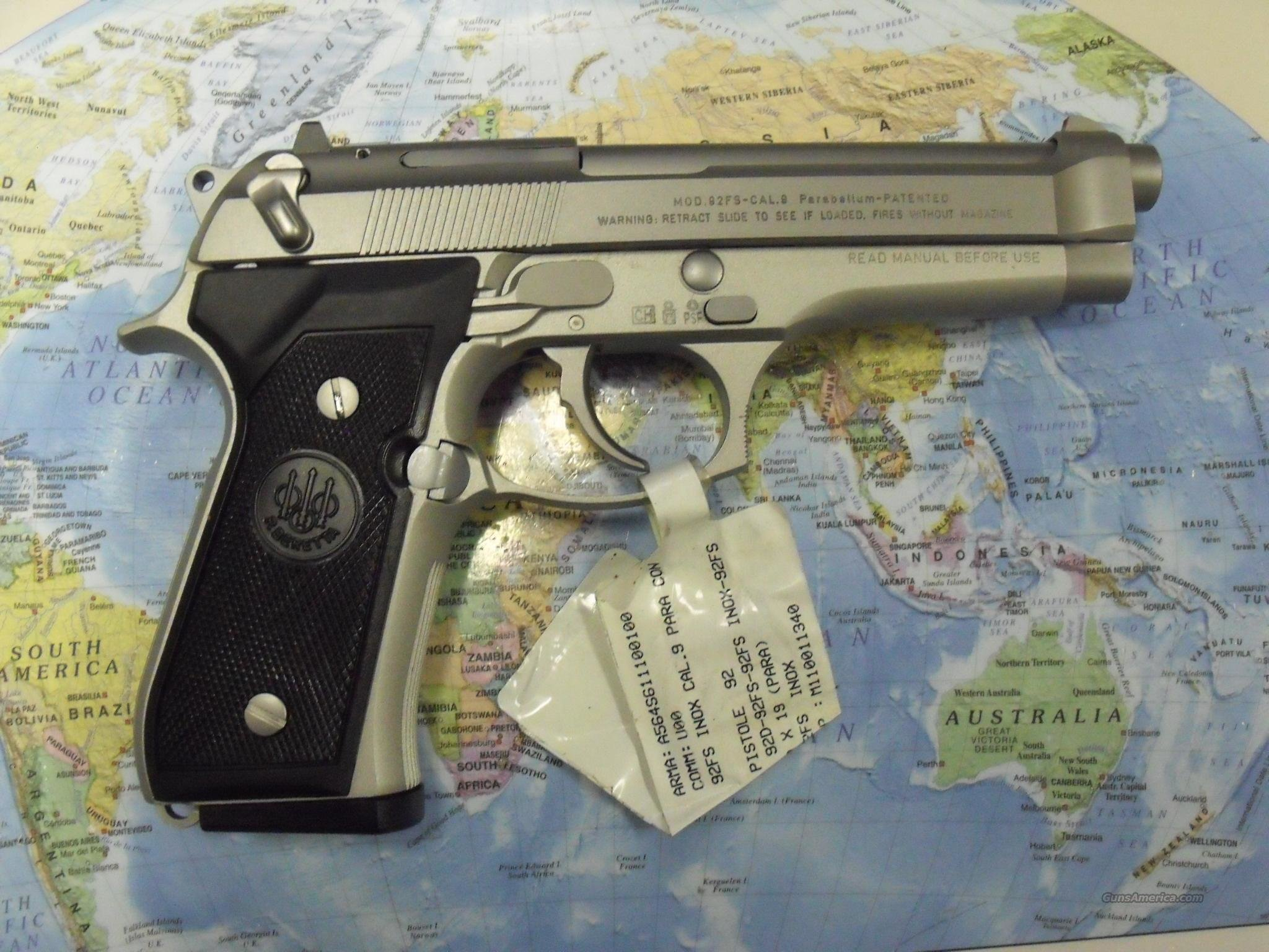 BERETTA 92FS INOX MADE IN ITALY   Guns > Pistols > Beretta Pistols > Model 92 Series