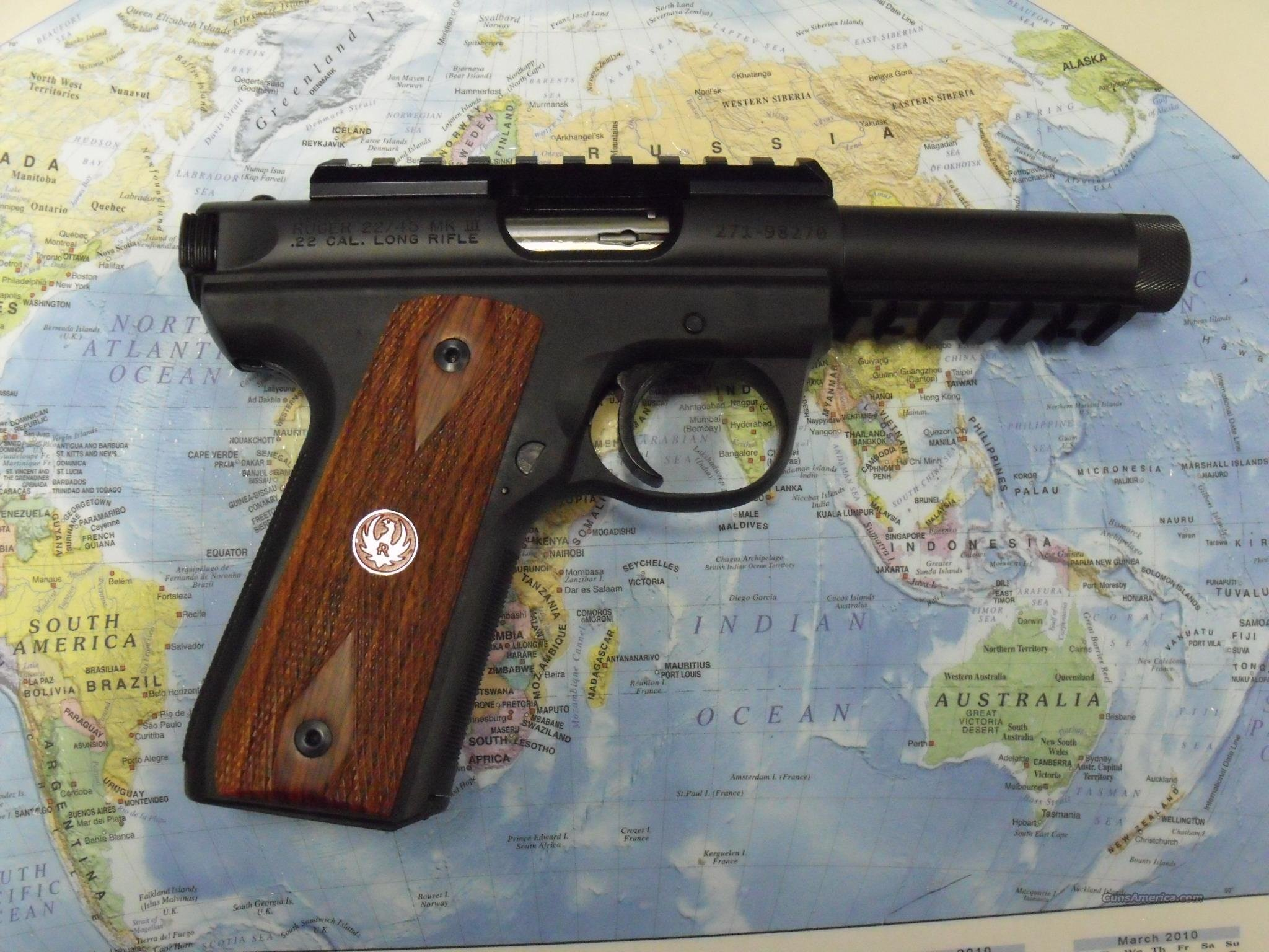 RUGER 22/45 MKIII PISTOL WITH TB   Guns > Pistols > Ruger Semi-Auto Pistols > Mark I & II Family