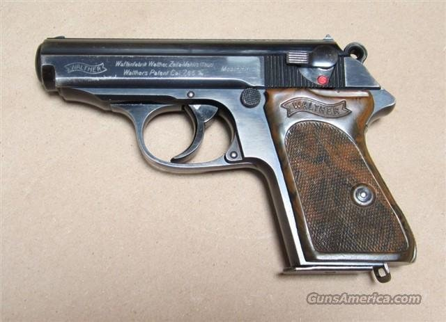 NICE 1930's WALTHER PPK NON-IMPORT WWII CROWN N 90% BLUE  Guns > Pistols > Walther Pistols > Pre-1945 > PPK