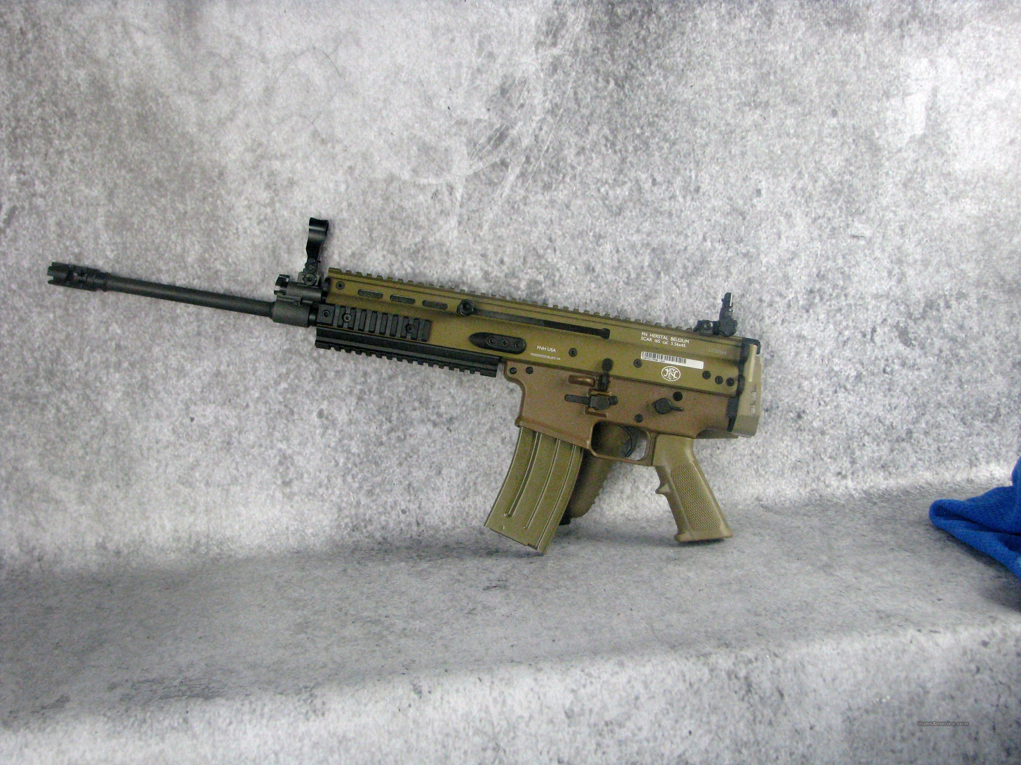FNH FDE SCAR 16s 5.56mm NATO 98501  223 Rem 30 Rd FDE  /EASY PAY $230 Monthly Guns > Pistols > FNH - Fabrique Nationale (FN) Rifles > Semi-auto > SCAR