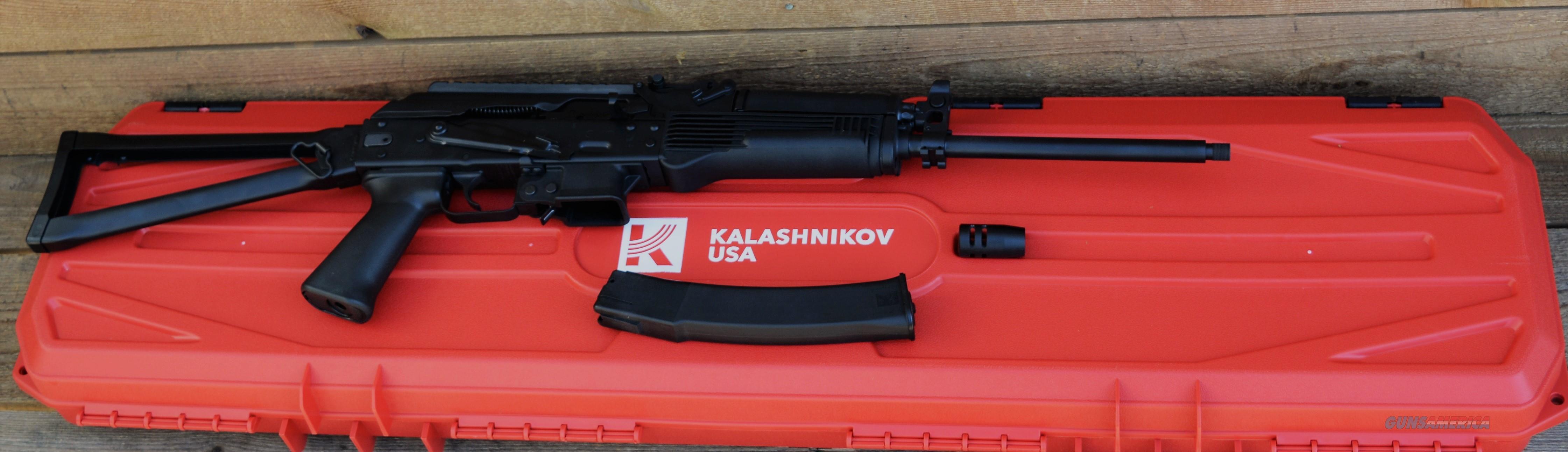 $108 EZ Pay Kalashnikov USA  KR-9 based on Russian Vityaz-SN submachine gun AK-47 style 9MM Carbine Centerfire Tactical rifle ak47 bayonet lung  able to use same ammo for side arm pistol & revolver FOLDING STOCK threaded flash suppressor  Guns > Rifles > Kalashnikov USA Rifles