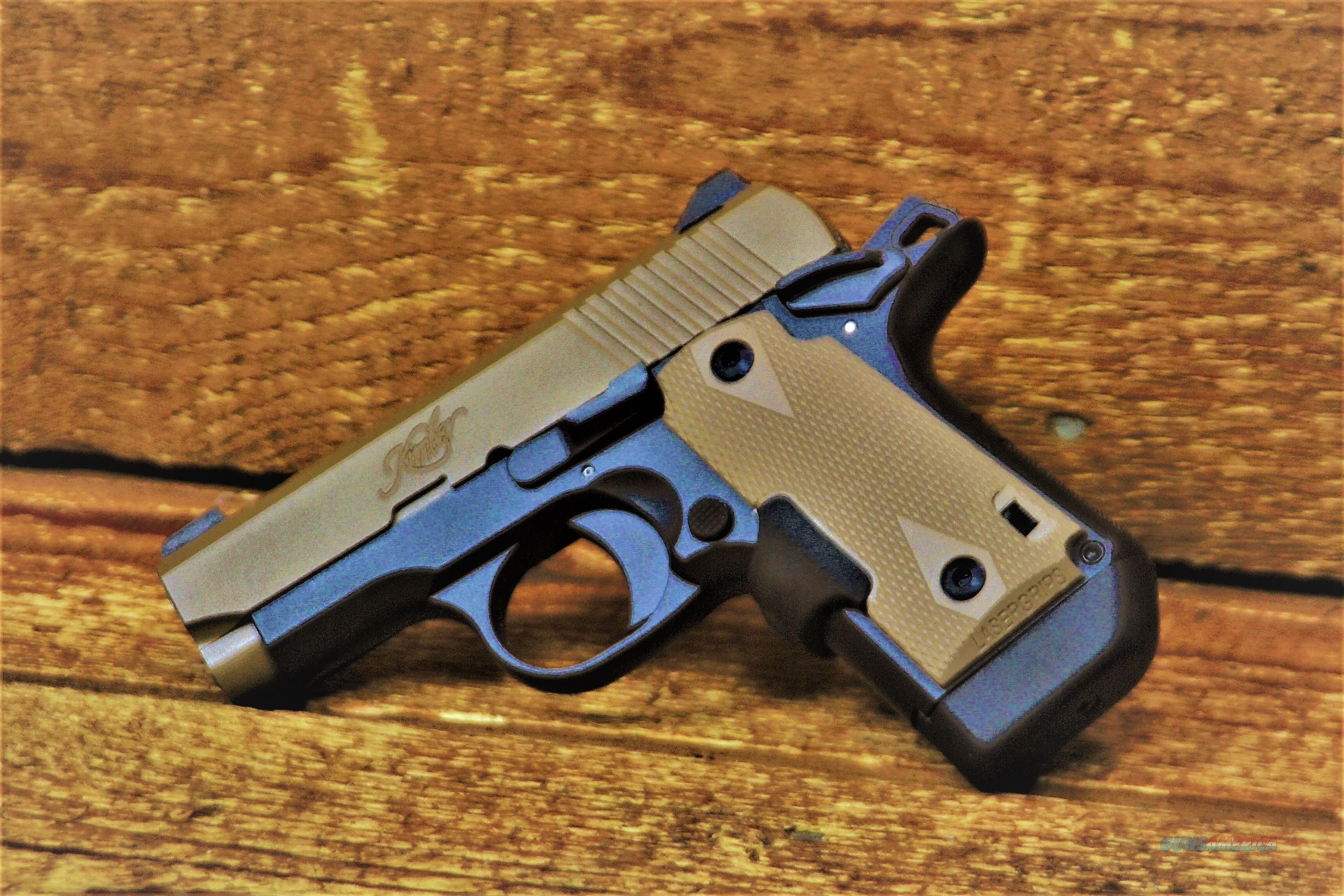 EASY PAY $62 DOWN LAYAWAY 12 MONTHLY PAYMENTS concealed carry Crimson Trace Laser  grips intuitive operation of a 1911 Pocket Pistol KIMBER MICRO  operation of a 1911 380 ACP Finish DESERT TAN  KimPro II  3300177  Guns > Pistols > Kimber of America Pistols > Micro