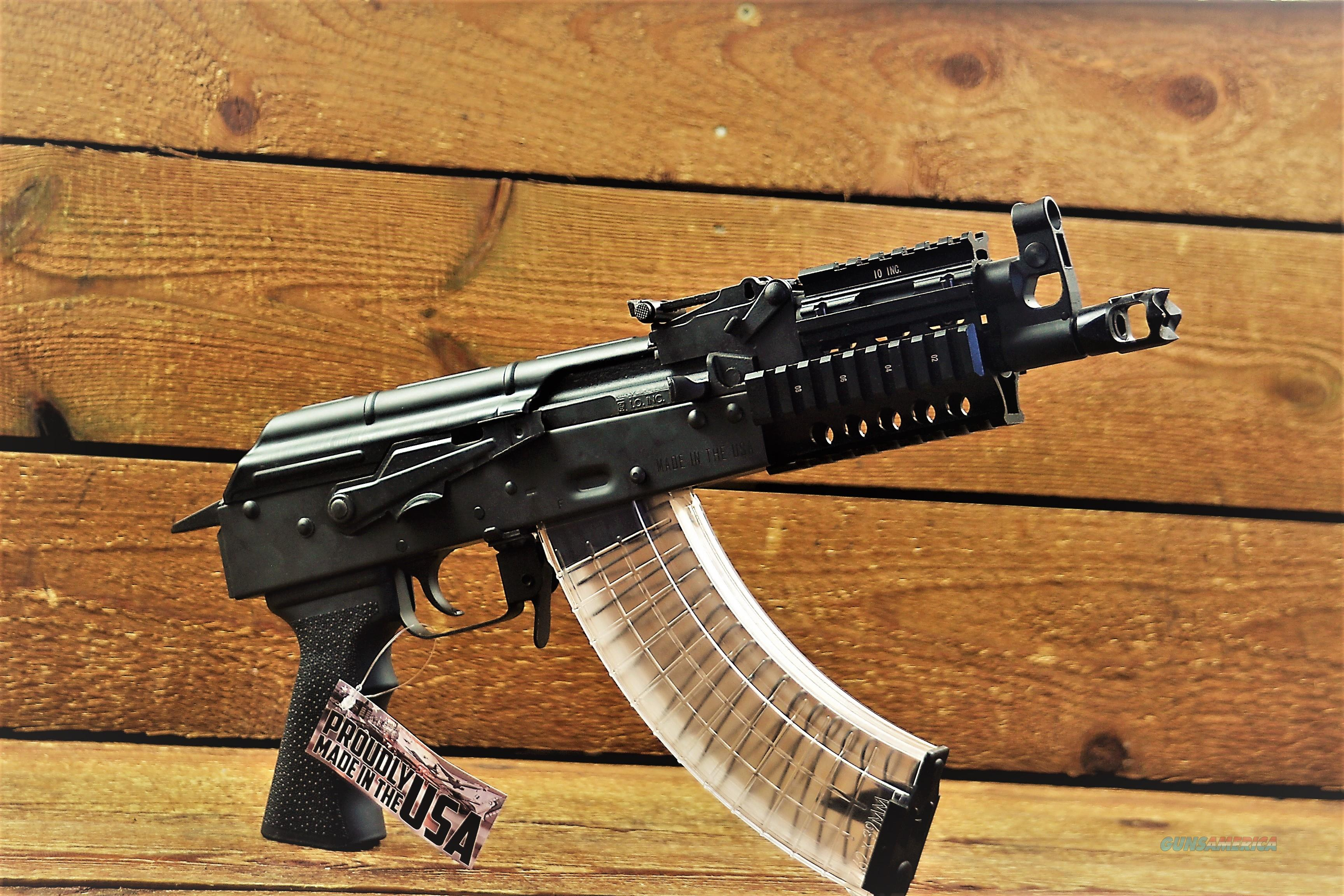 EASY PAY $64 LAYAWAY I.O. Inc. M214 Nano AK AK-47 Semi-automatic Pistol 7.62x39mm AK47 30 Rounds Quad Rail  IONANO5001  Guns > Rifles > Century International Arms - Rifles > Rifles