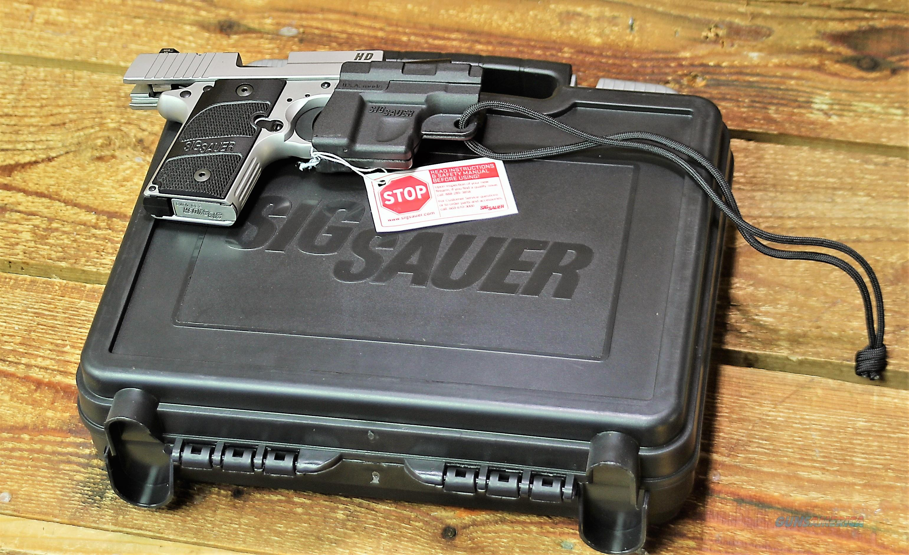 1.  $72 Sig sauer P238 California Compliant (CA Approved) for most Ban state Conceal & Carry HD   238380HDCA 380 ACP Automatic Colt Pistol pocket pistol  2.7 in G10 Composite Grip Stainless steel SS Night Sights 6 Rd Siglite Night    Guns > Pistols > Sig - Sauer/Sigarms Pistols > P238