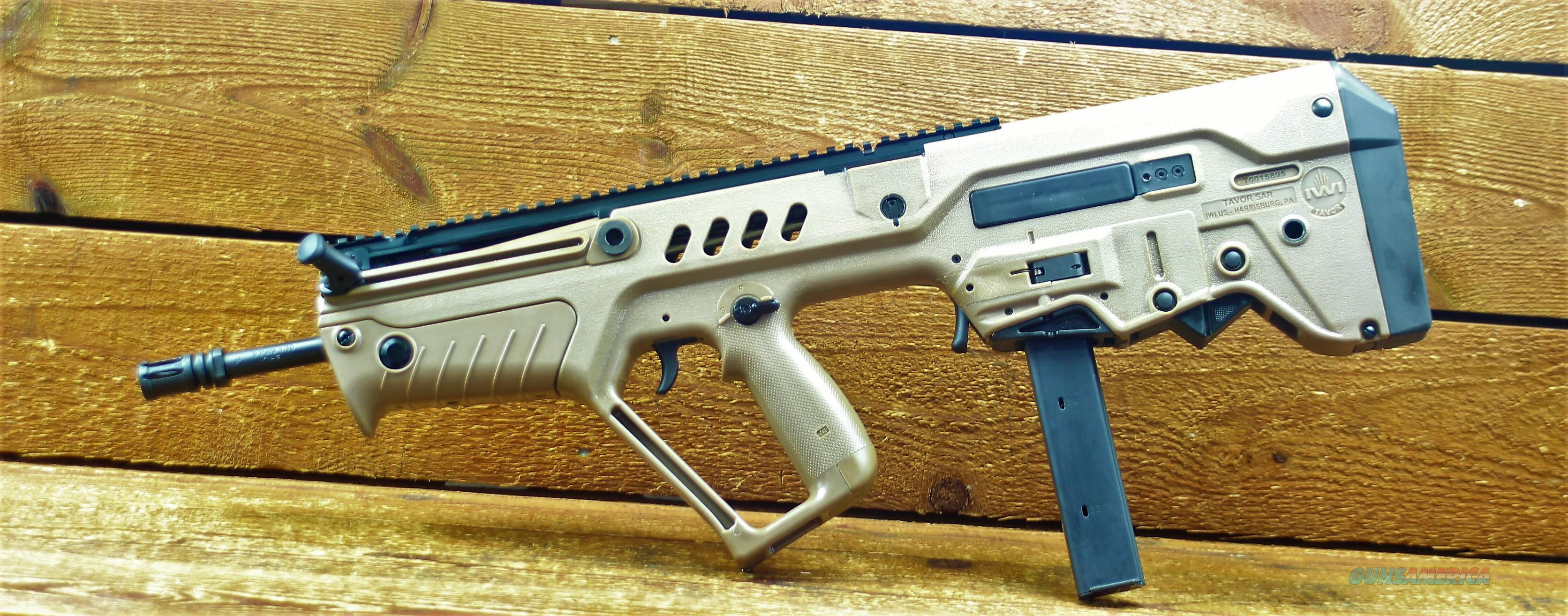 1.  EASY PAY $109 DOWN LAYAWAY 18 MONTHLY PAYMENTS IWI US, Inc TSFD17-9 9MM puppolymer bullpup  Accepts Colt AR15 9mm Magazine  SAR 9MM  FDE chrome lined barrel Tavor Flat Dark Earth 856304004684   Guns > Rifles > IWI Rifles