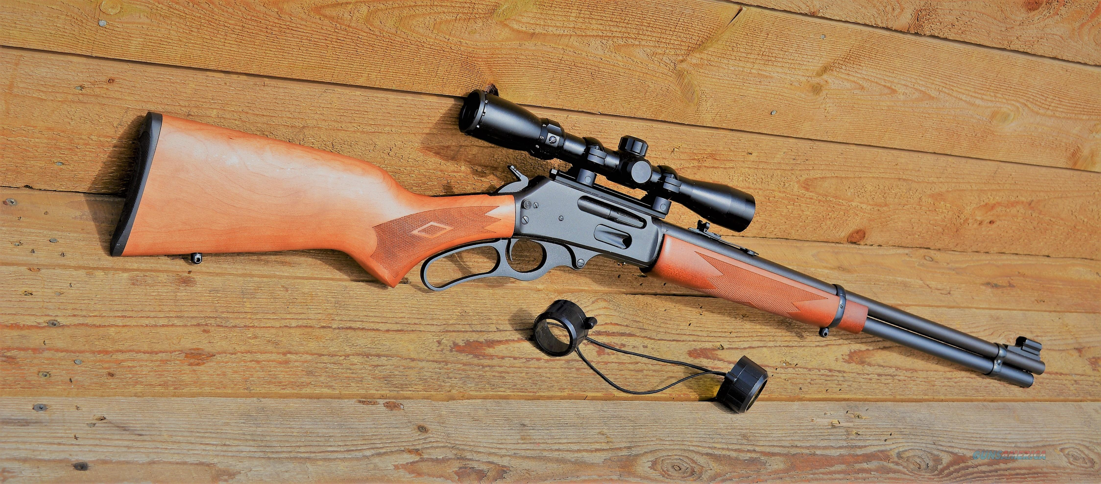 "$33 Sale !! EASY PAY Marlin 336W factory mounted 3-9x32mm scope Lightweight Hunting Rifle Target Gun .30-30 Winchester  20"" Barrel 6 Rounds Laminate Wood furniture Stock W checkering Blued steel Adjustable folding brass bead sight 70521  Guns > Rifles > Marlin Rifles > Modern > Lever Action"