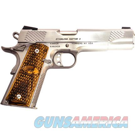 EASY PAY $87 LAYAWAY Kimber 3200181 Stainless Raptor II Pistol 1911 .45 ACP, 5 in Barrel, Stainless Frame/Slide, 8 Rd night sights  669278321813  Guns > Pistols > Kimber of America Pistols > 1911