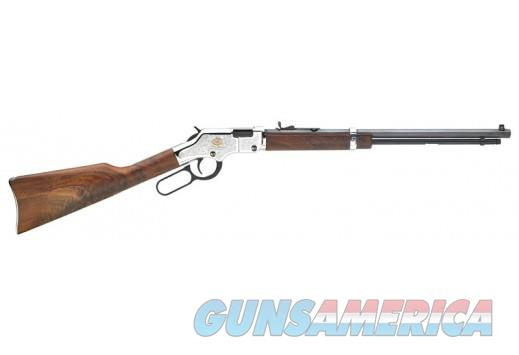 "$68 Easy Pay Henry Repeating Arms American Beauty  .22 S/L/LR 20"" Barrel 16 Rounds Engraved Nickel Receiver Walnut Stock Blued H004AB  Guns > Rifles > Henry Rifles - Replica"