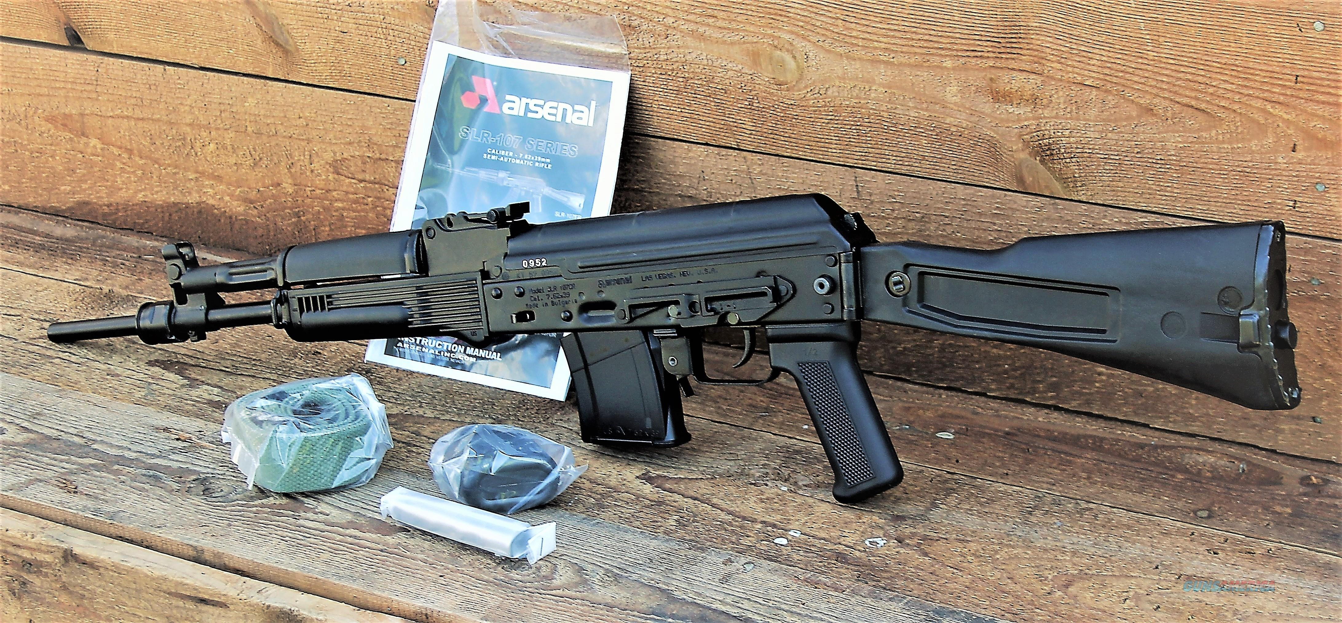 "Easy Pay $105 Arsenal USA SLR107CR SLR107-61 Black AK-47 7.62x39mm 16.25"" Chrome Lined Hammer Forged Barrel with 1:9.44 Twist AK47 Threaded Muzzle Bulgarian Made Stamped Receiver Side Rail for Optic Mount Folding Stock Polymer Furniture  Guns > Rifles > AK-47 Rifles (and copies) > Folding Stock"