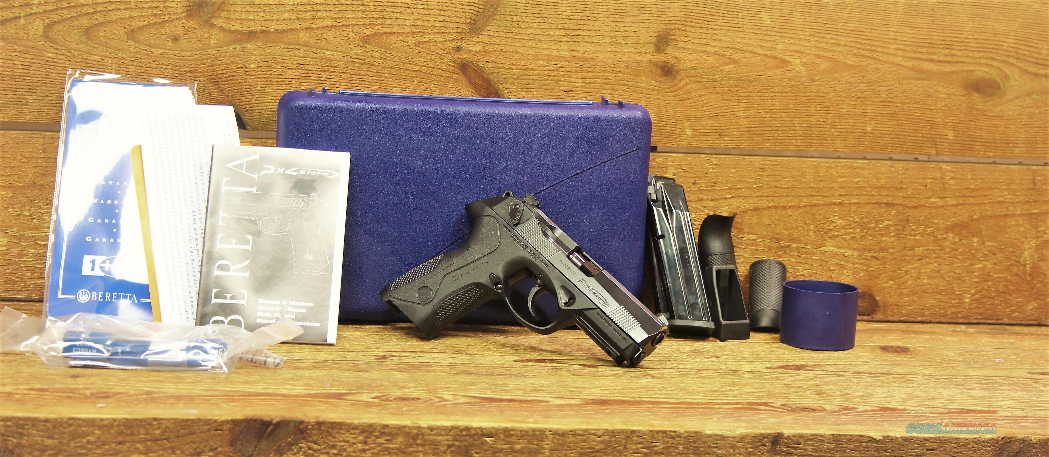 "EASY PAY $53 DOWN Maybe Save a life by carrying Concealed and Carry know your state Laws Beretta PX4 Storm Handgun stainless steel barrel Polymer Black frame grip weight 27.3 oz  9mm Luger 4"" Barrel 17 Rounds JXF9F21  Guns > Pistols > Benelli Pistols"