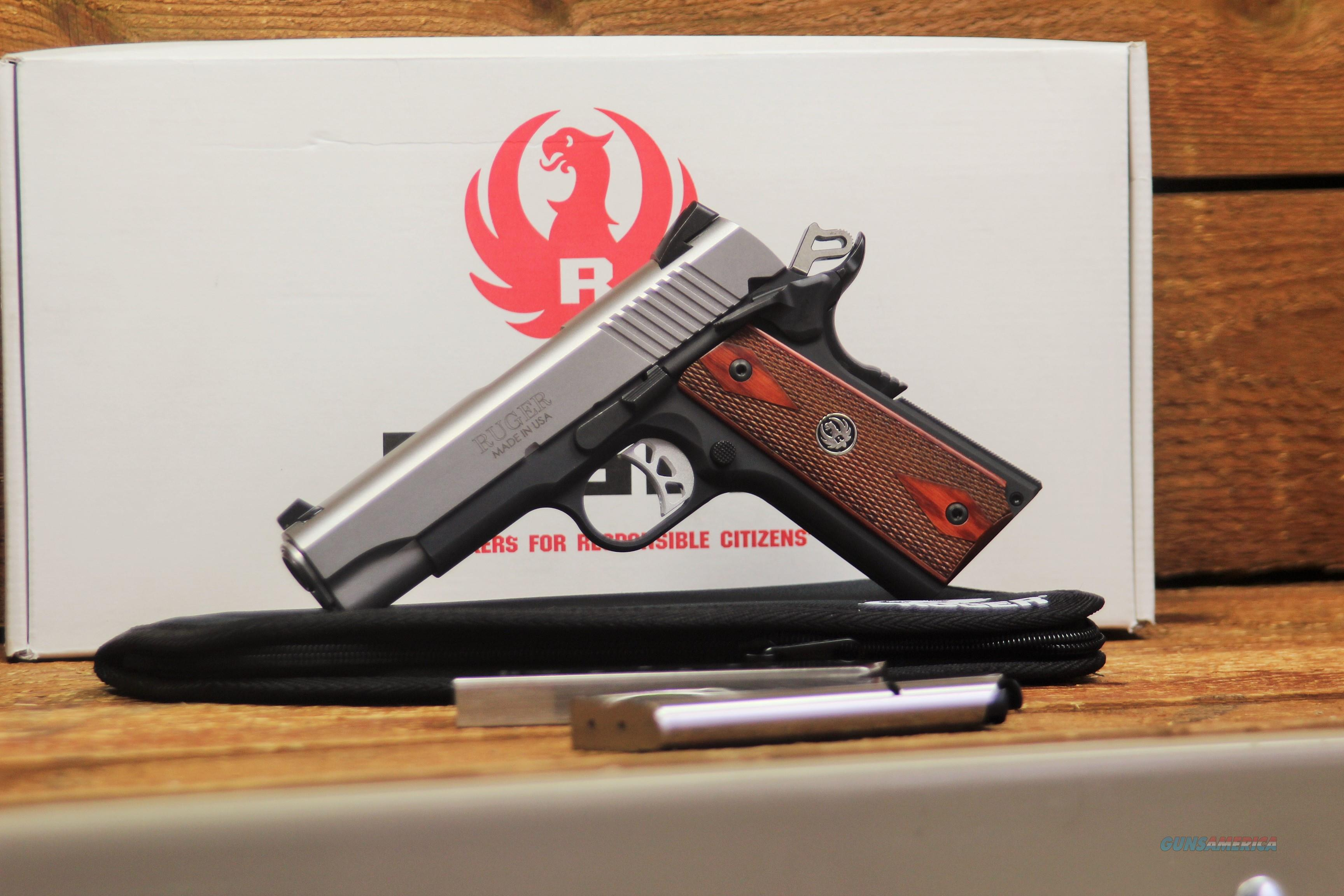 """EASY PAY $73 DOWN LAYAWAY 12 MONTHLY PAYMENTS Ruger SR1911 anodized Commander thin grip Lightweight 1911 4.25"""" Barrel  titanium firing pin  Easley concealable & carried .45 ACP Firepower  7rd Two Tone Stainless steel SS wood 6711  Guns > Rifles > AR-15 Rifles - Small Manufacturers > Complete Rifle"""