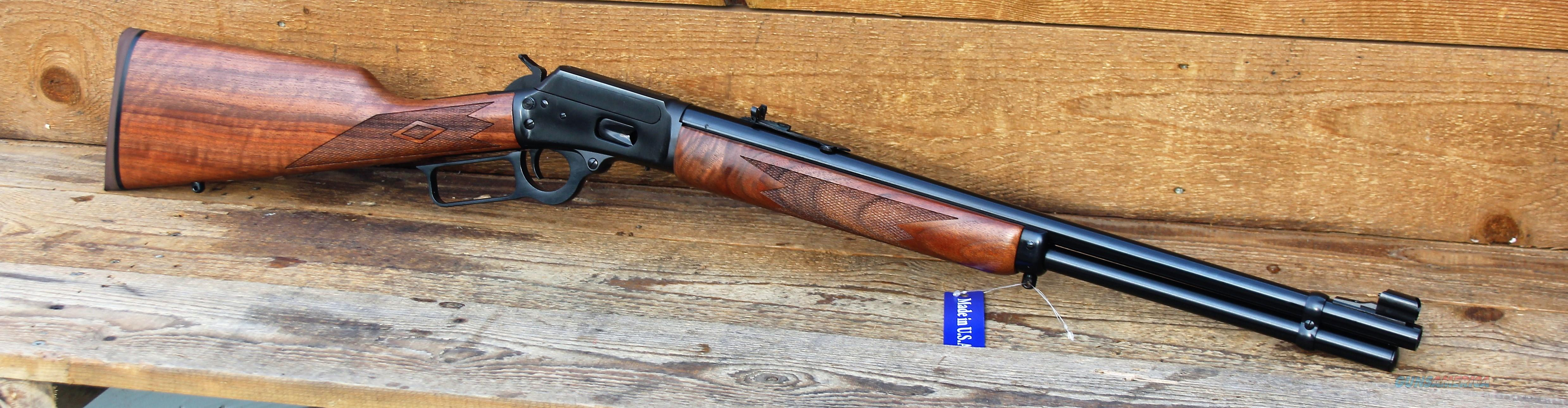 $61  EASY PAY Layaway   Marlin  American Design 1894 .44 Magnum .44 Special Use the same Box of ammo  For Revolver & Pistol and Then Switch to your Carbine For Higher Velocity Using the same 10 Rds Wood checkering Black Walnut Stock 70400  Guns > Rifles > Marlin Rifles > Modern > Lever Action