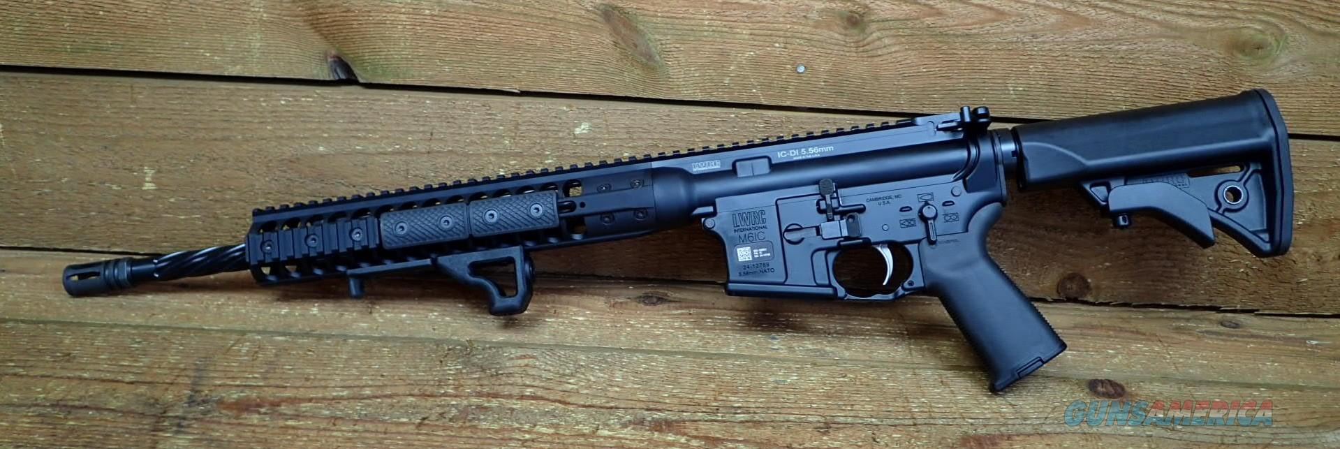 """Sale EASY PAY $115 DOWN LAYAWAY  LWRC M4 16.1"""" Spiral Fluted Barrel  Compact Stock p-mag Individual Carbine Ar15 Mil-Spec Direct Impingement A2 Birdcage Magpul ICDIR5B16  5.56mm NATO  16.1"""" Fore Grip Cold Hammer Forged Ar-15   Guns > Rifles > LWRC Rifles"""