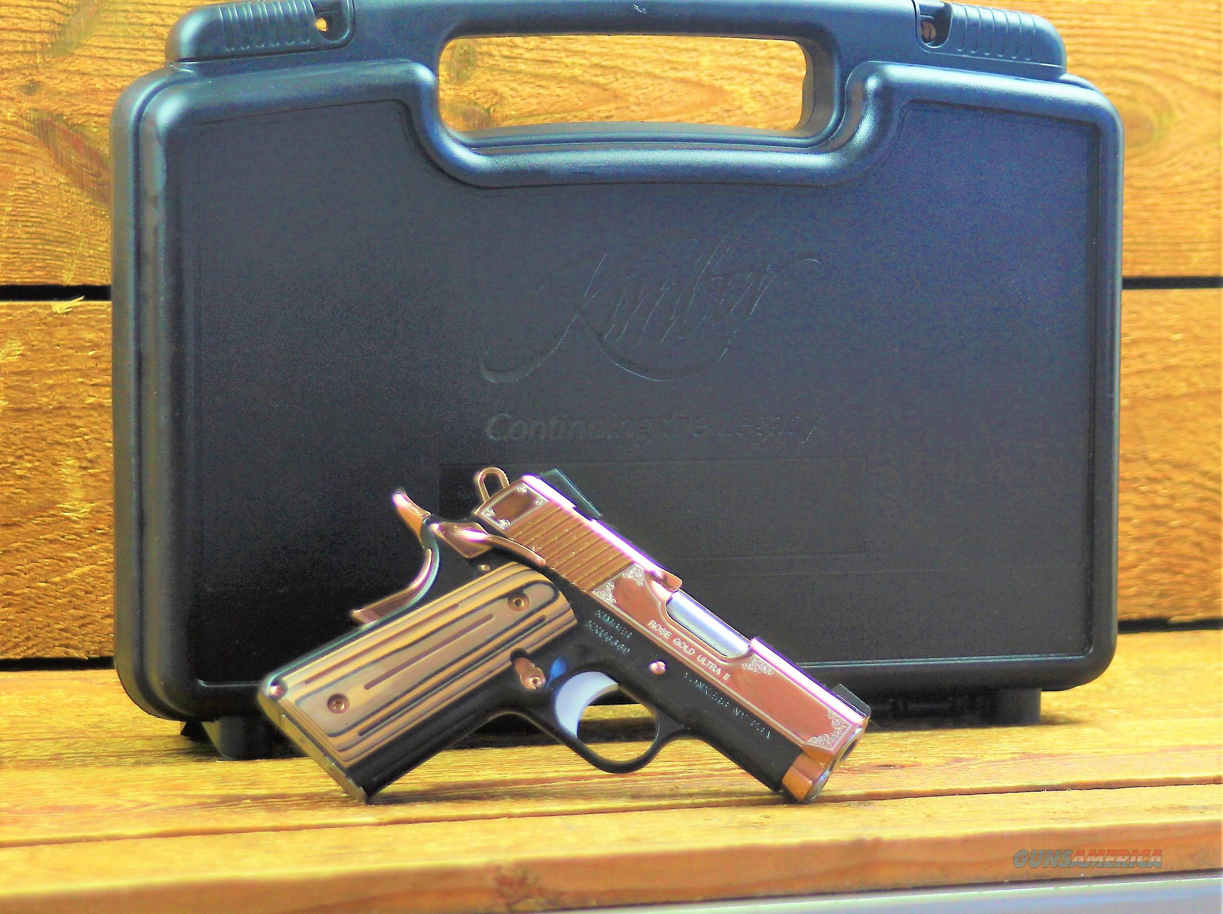 EASY PAY $133 LAYAWAY  Kimber 3200372 Rose Gold Ultra II Pistol - 9mm, 3 in Barrel, Aluminum Frame, Rose Gold PVD Finish, 8 Rd  Guns > Pistols > Kimber of America Pistols > 1911