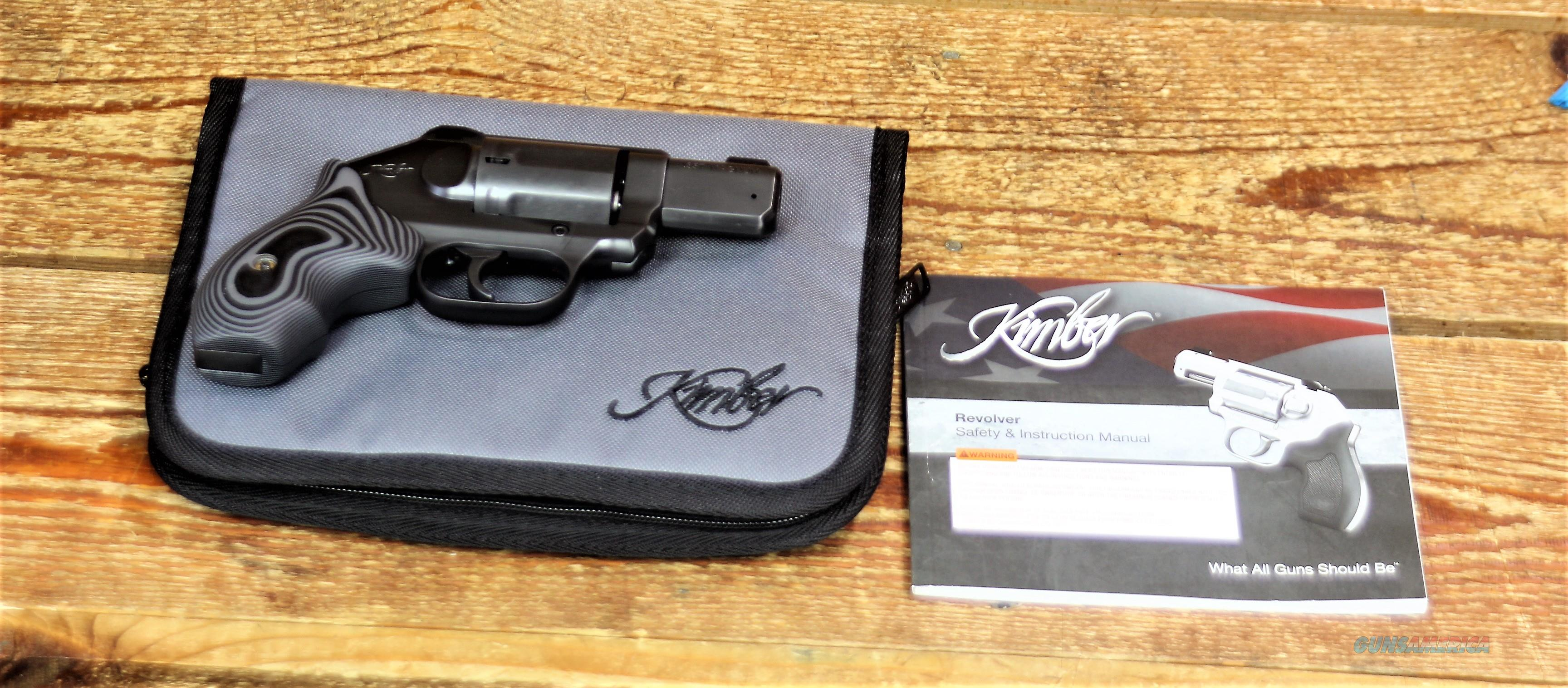 EASY PAY $93 DOWN LAYAWAY  MONTHLY PAYMENTS Kimber K9 Easily Concealed & Carried W Knock Down Firepower   Tritium 3 Dot night sights  Stainless Steel POCKET REVOLVER   357 MAGNUM DC Blk Gry 357 MAG  Black DLC Coated KIM-3400012  Guns > Pistols > Kimber of America Pistols > Revolvers