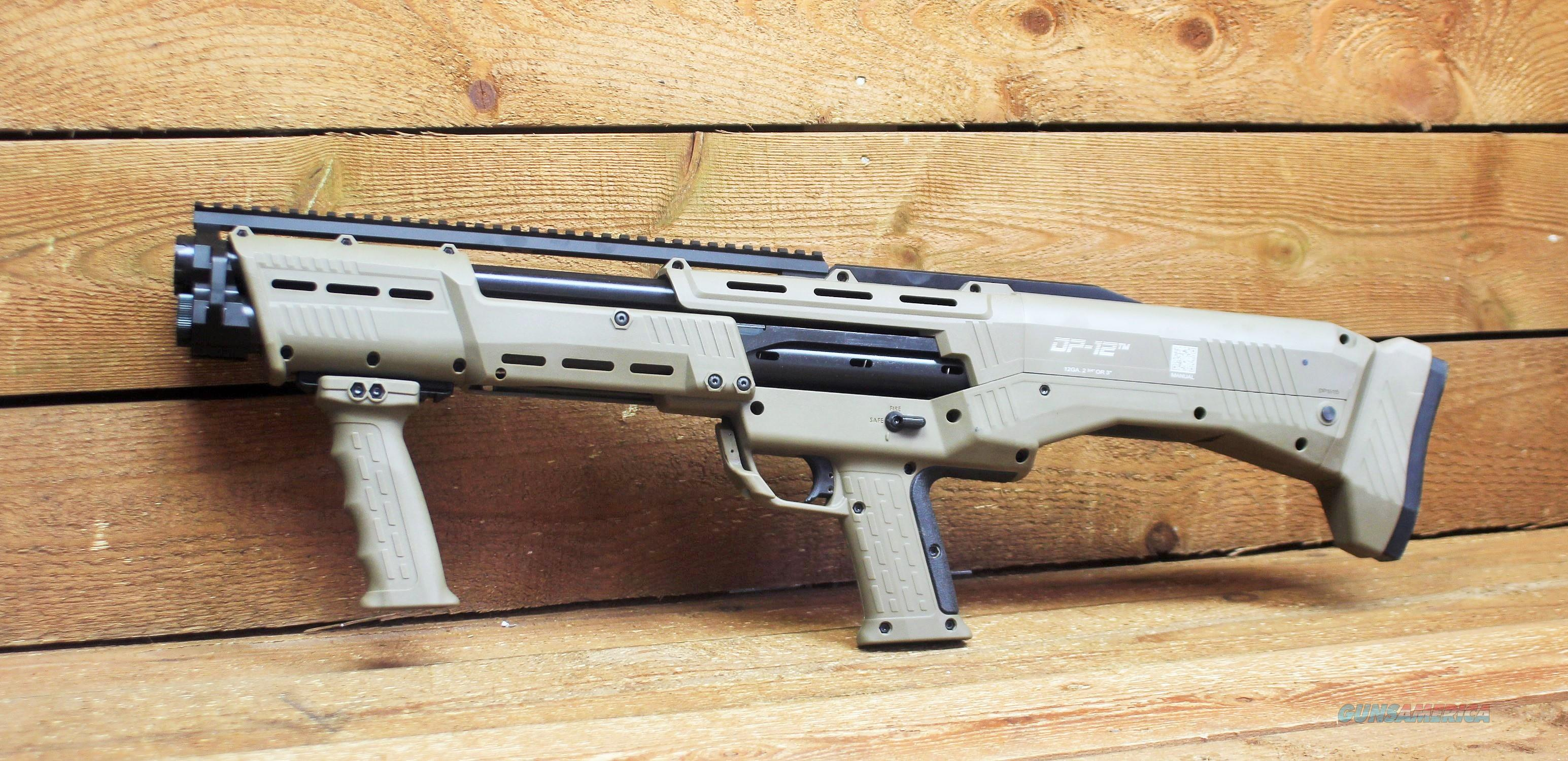 "EASY PAY $114 LAYAWAY  Standard Mfg DP12FDE  DP-12 12GA PUMP FDE  FLAT DARK EARTH   MOE rails foregrip  Thermal coated receiver 12 ga Fires 2 3/4 or 3"" shells Ambidextrous safety   Guns > Shotguns > Military Misc. Shotguns US"