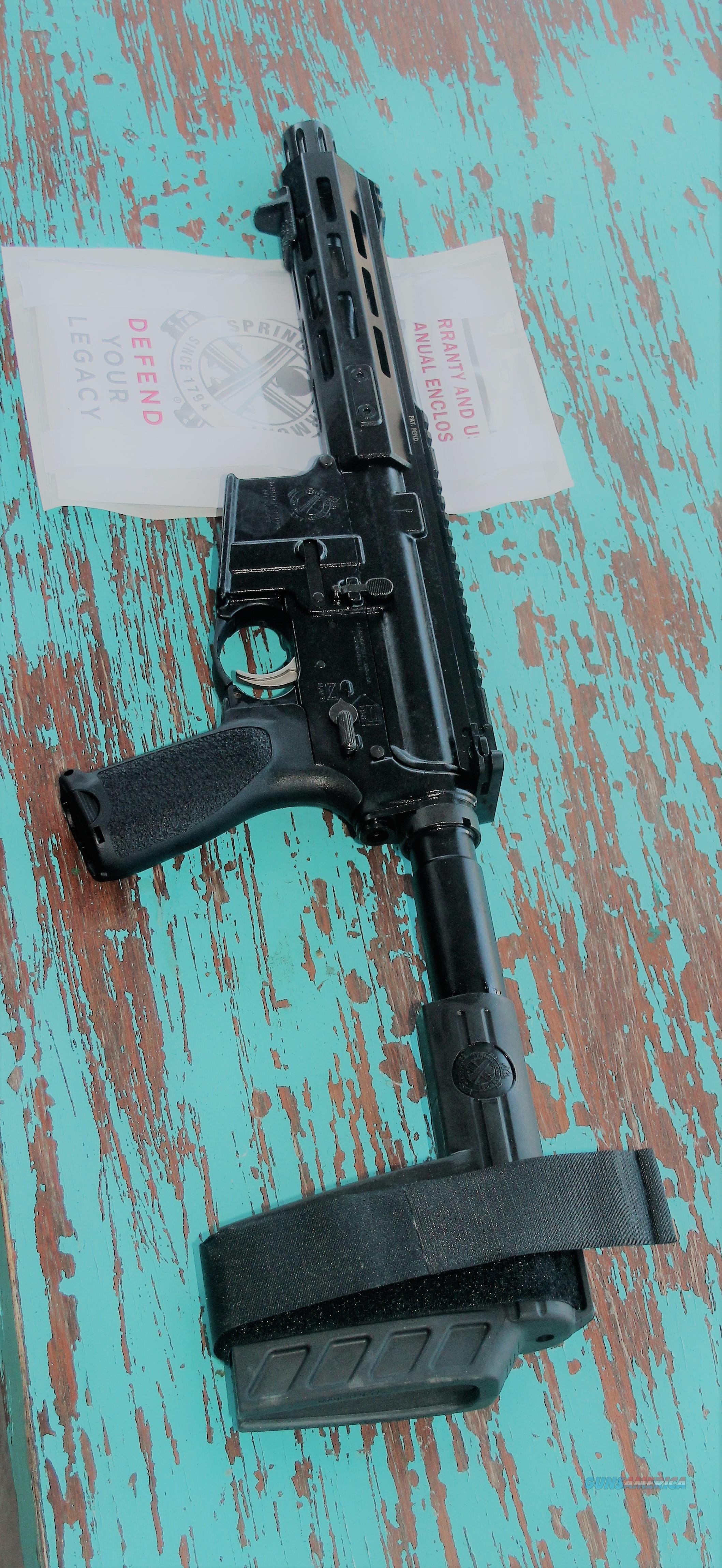 Sale $78 EASY PAY Springfield Armory Saint M-LOK Pistol Able to shoot rifle round With Tactical W forearm Stabilizing Brace SB  5.56 NATO AR15 SBX-K AR-15 Pistol Bravo company Pistol Grip Trigger Guard stainless steel NEW SPRST975556B  Guns > Rifles > Springfield Armory Rifles > SAINT