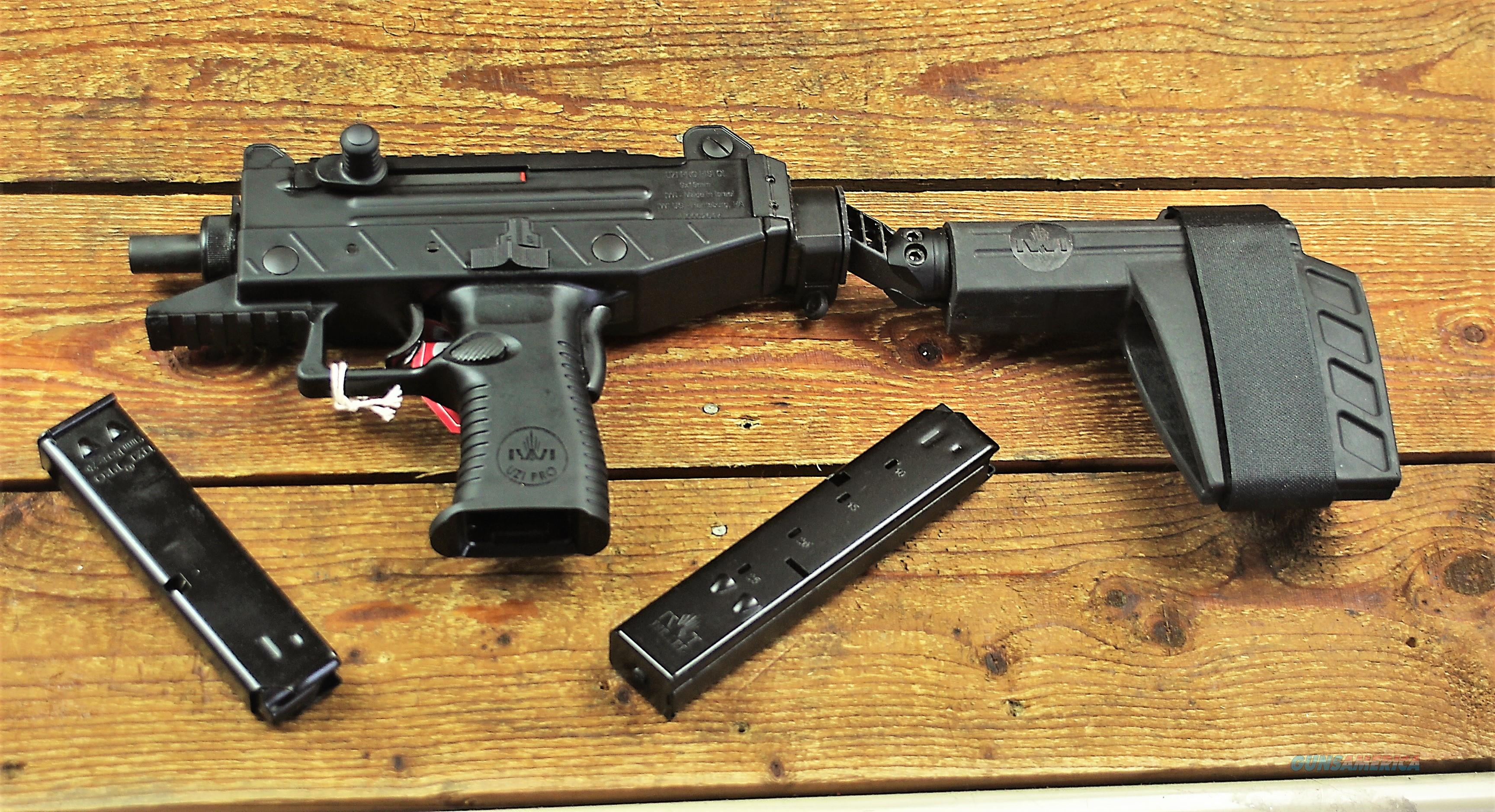 1. EASY PAY  $70 IWI USA Uzi Pro Target Sights submachine gun. Picatinny rail  9mm Luger Side Folding FOLDER Stabilizing Brace  Steel/Polymer Frame  UPP9SB 856304004691   Guns > Pistols > IWI Pistols