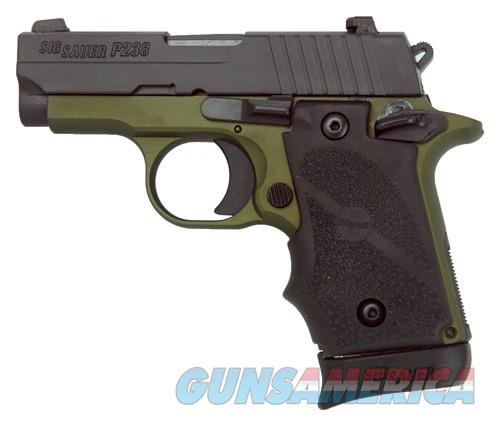 "EASY PAY $54 LAYAWAY  Sig Sauer Nightmare P238 micro compact Pistol 238380AGF, 380ACP, 2.7"", Hogue Rubber Grip, Green Nitron Finish, Siglite Night Sights   Guns > Pistols > Sig - Sauer/Sigarms Pistols > P238"