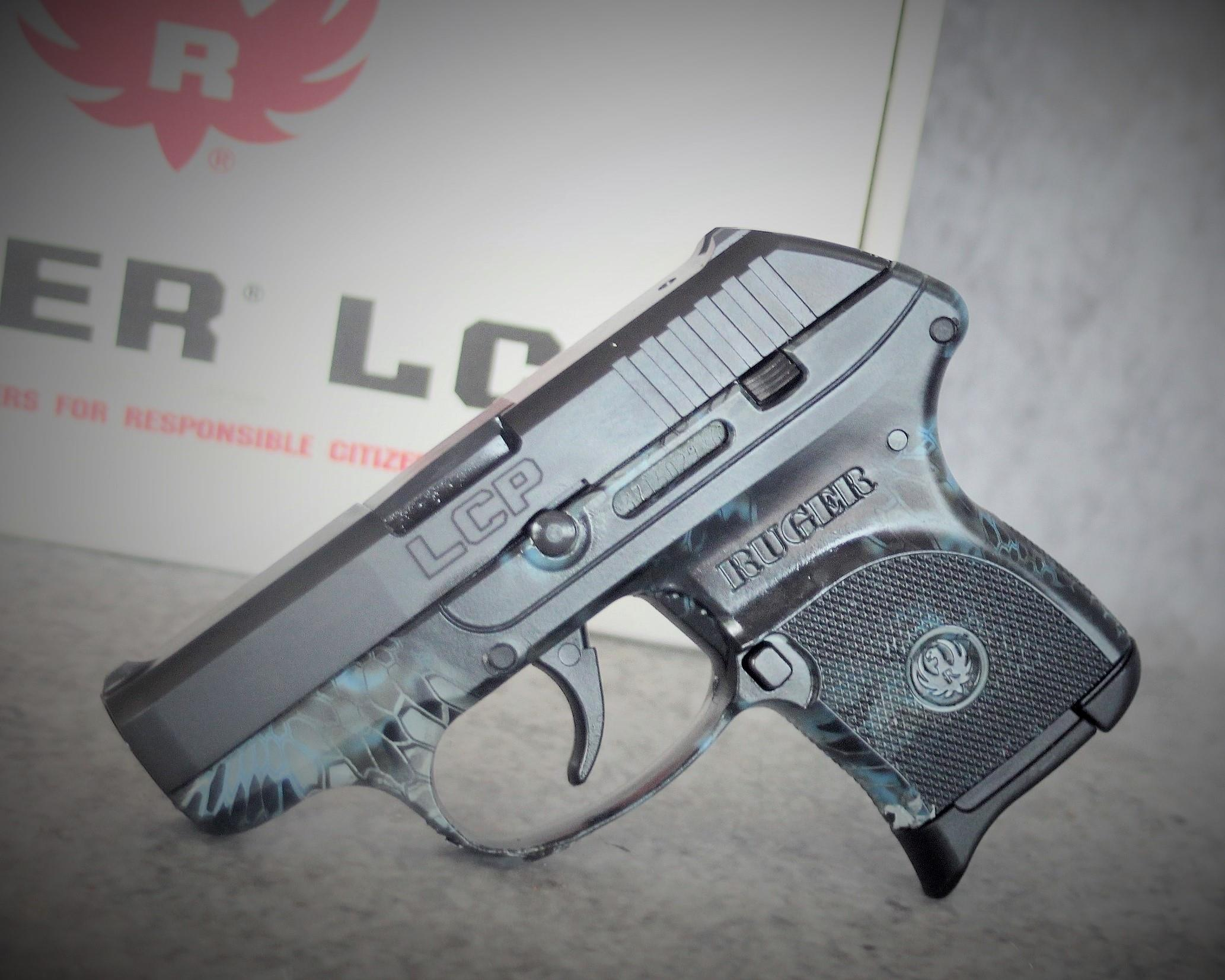 $30 EASY PAY  Exclusive  RUGER  LCP  Camo KRYPTEK NEPTUNE Compact Model Conceal and Carry   Soft Case   Pocket Pistol Or Backup Carry camouflage Lightweight DAO Pistol Blue Fixed  Sights  3743  NIB  .380ACP  Guns > Pistols > Ruger Semi-Auto Pistols > LCP