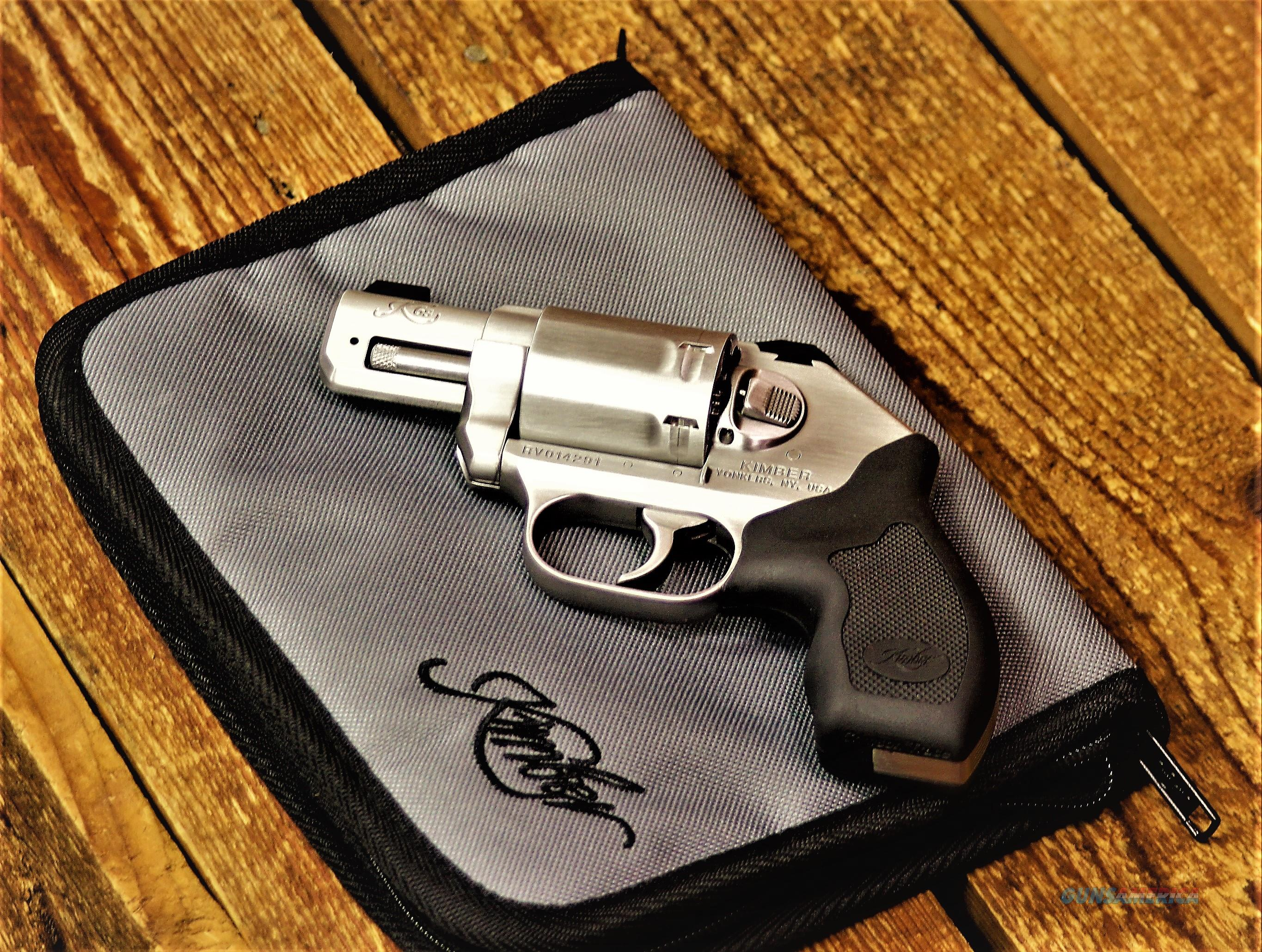 $74 WARNING NON California STATE COMPLIANT IT'S Not SAFE Kimber concealed Carry Knock Down On Impact ? Pocket Revolver Cannon DAO   6-shot 357 Magnum lightweight   SS Stainless Steel match grade satin Serrated backstrap KIM3400010 EASY PAY   Guns > Pistols > Kimber of America Pistols > Revolvers