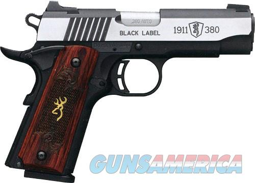 EASY PAY $75 DOWN LAYAWAY 12 MONTHLY PAYMENTS Browning Black Label Medallion Pro  concealed carry Based on 1911 380 ACP rosewood grips stainless steel Buck Mark logo Automatic Colt Pistol  Guns > Pistols > Browning Pistols > Other Autos